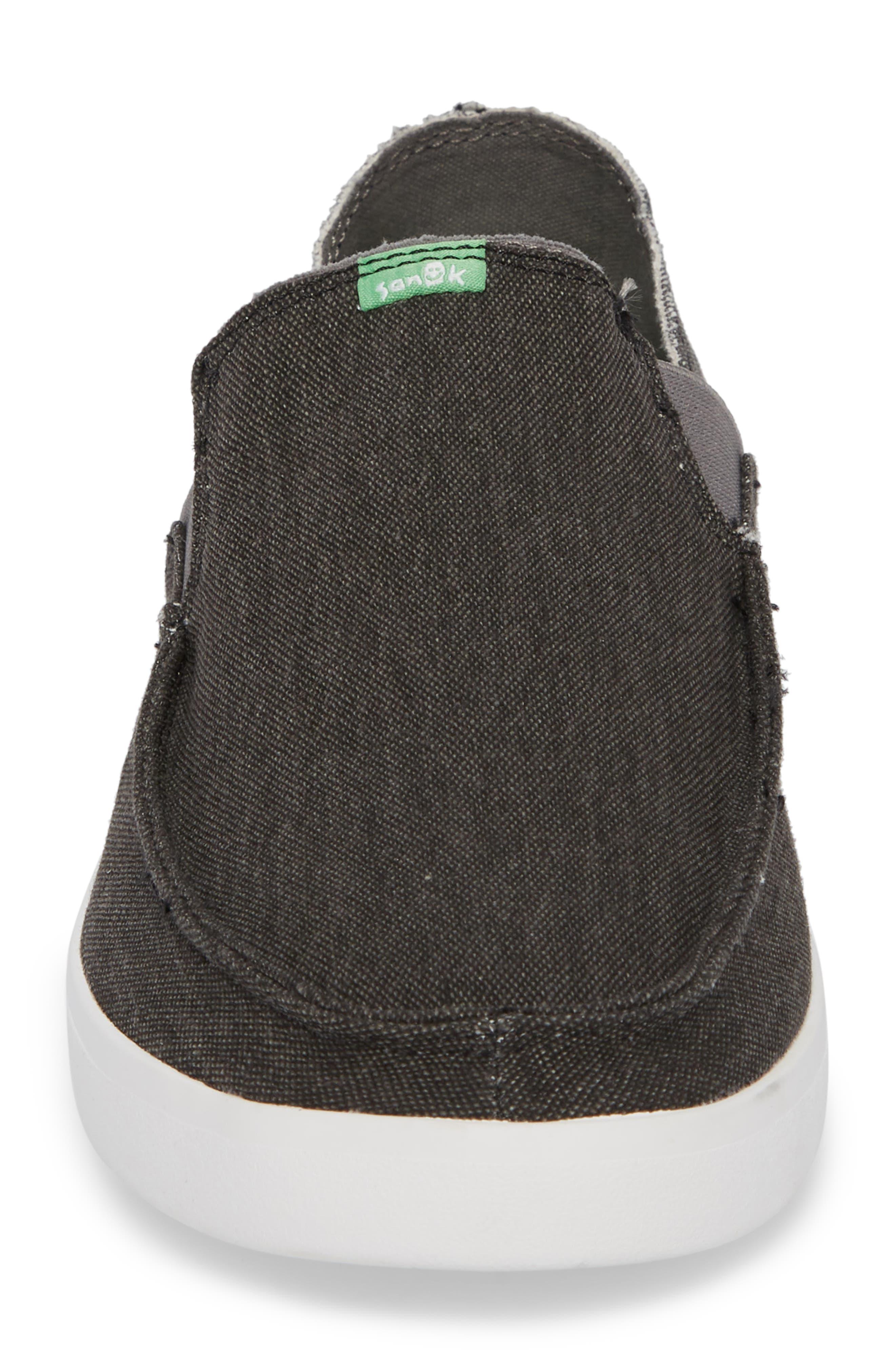 Pickpocket Slip-On Sneaker,                             Alternate thumbnail 4, color,                             BLACK
