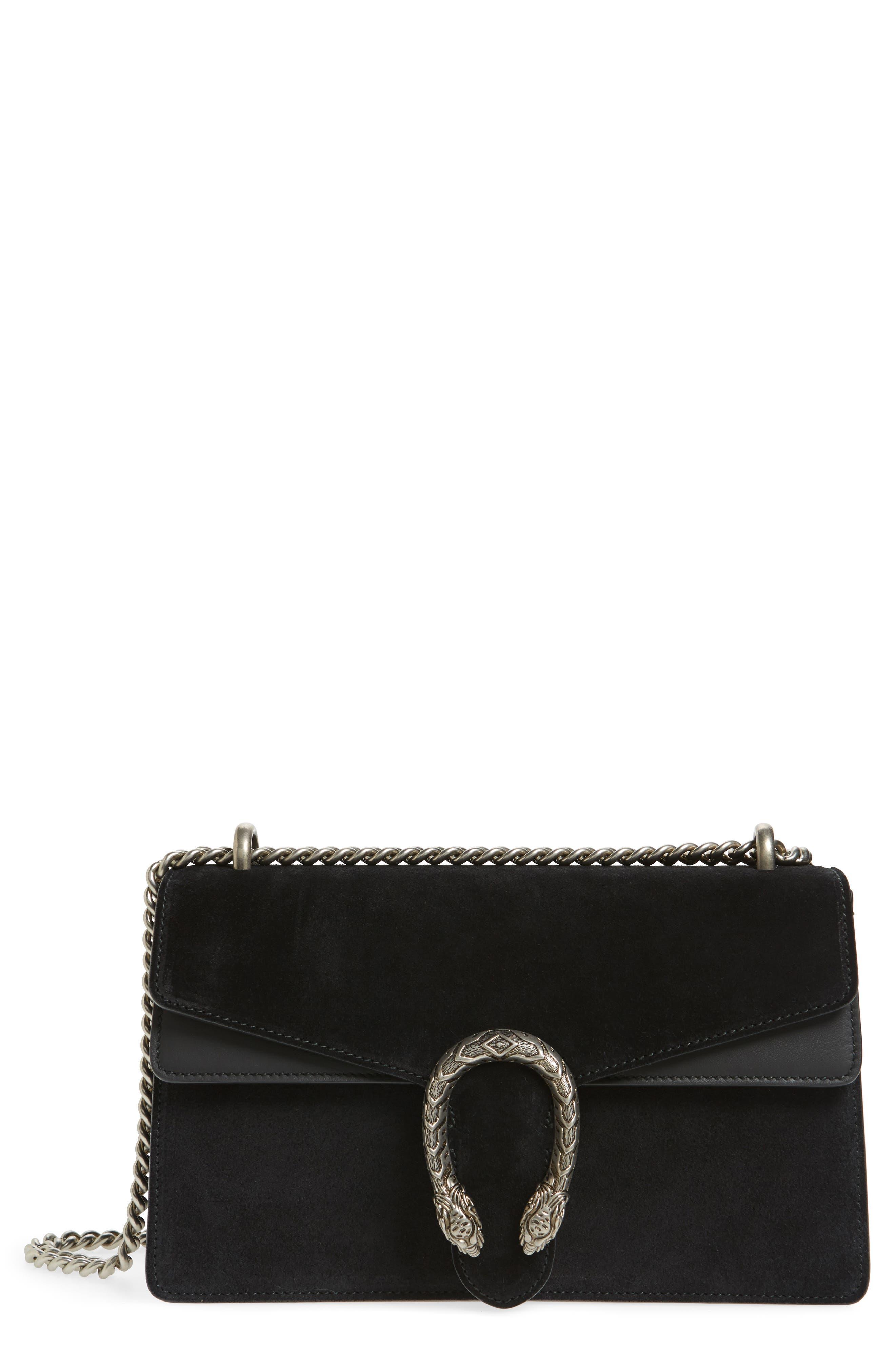 Small Dionysus Suede Shoulder Bag,                         Main,                         color, 001