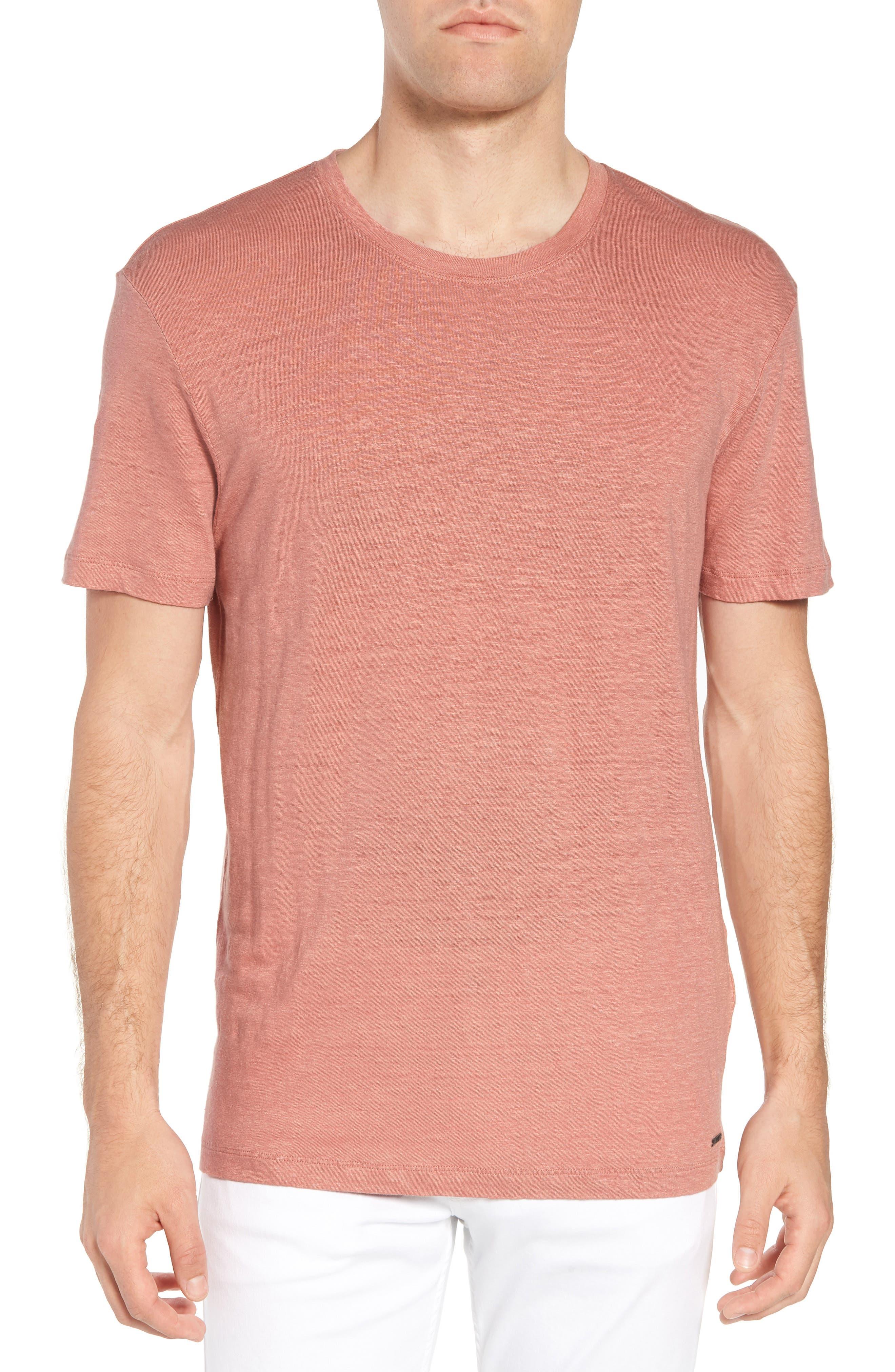 Hugo Boss Tiburt Linen T-Shirt,                             Main thumbnail 1, color,                             631
