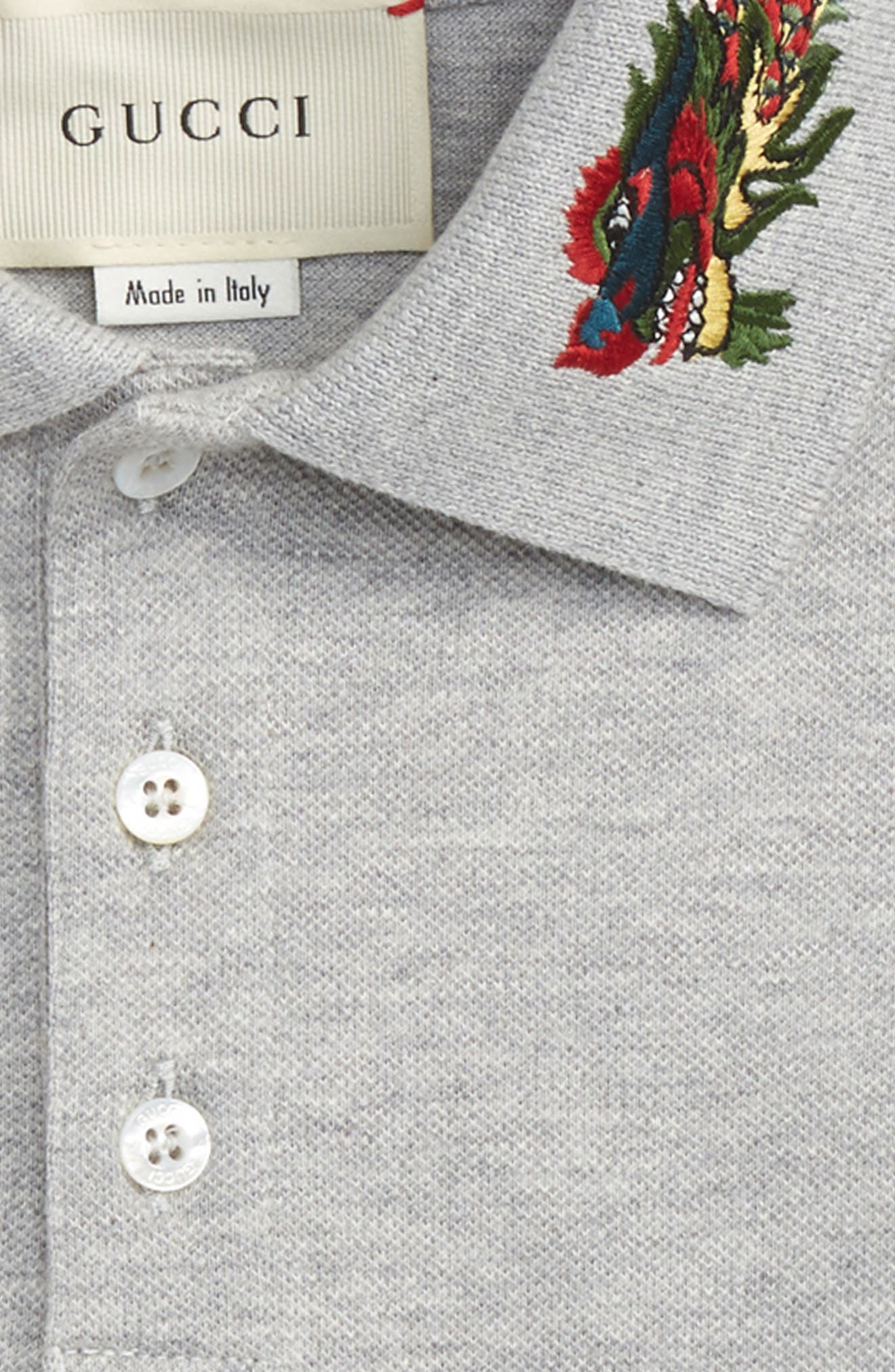 Embroidered Collar Polo,                             Alternate thumbnail 4, color,                             052