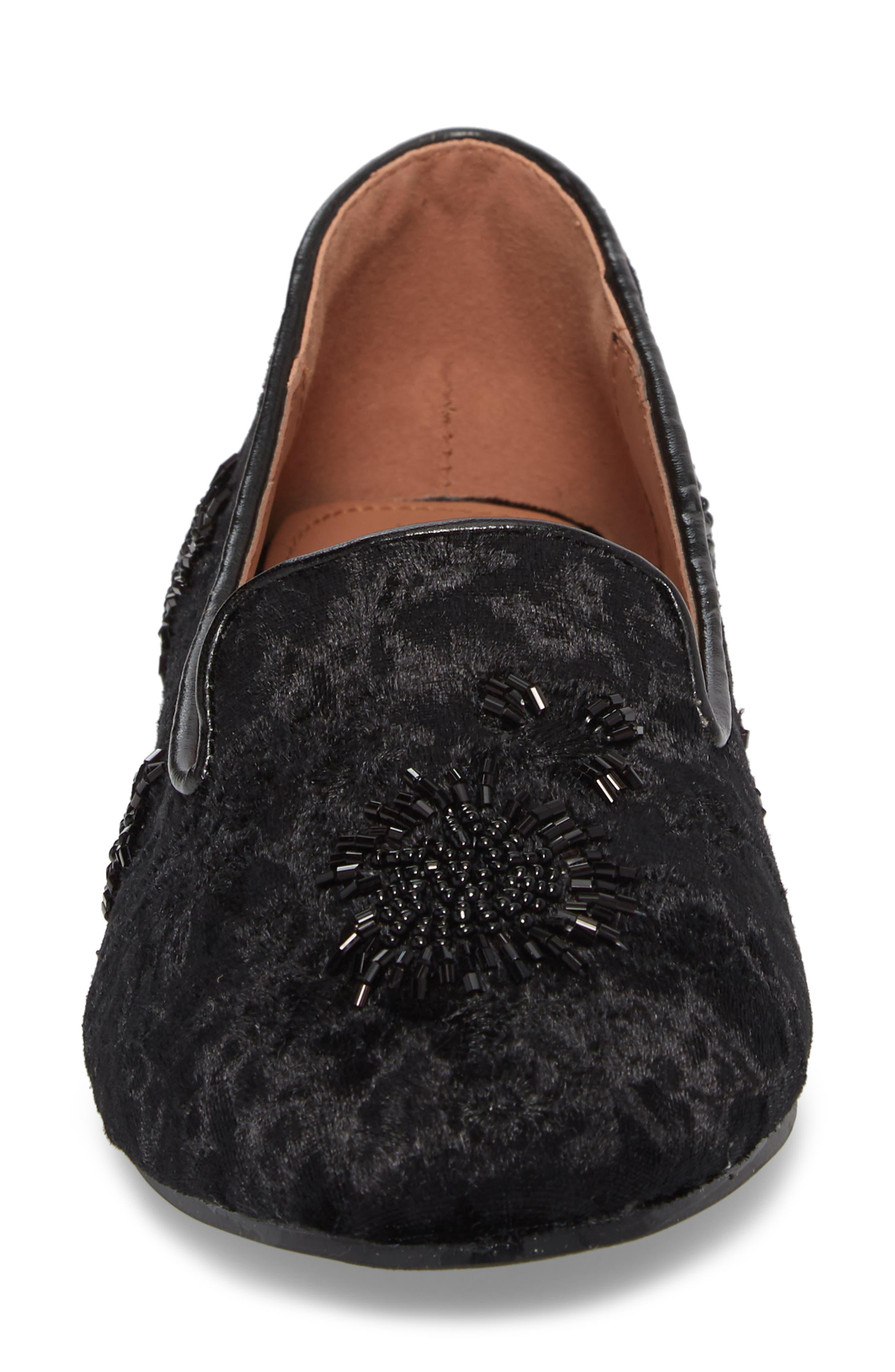 Syrup Embellished Loafer,                             Alternate thumbnail 4, color,                             BLACK