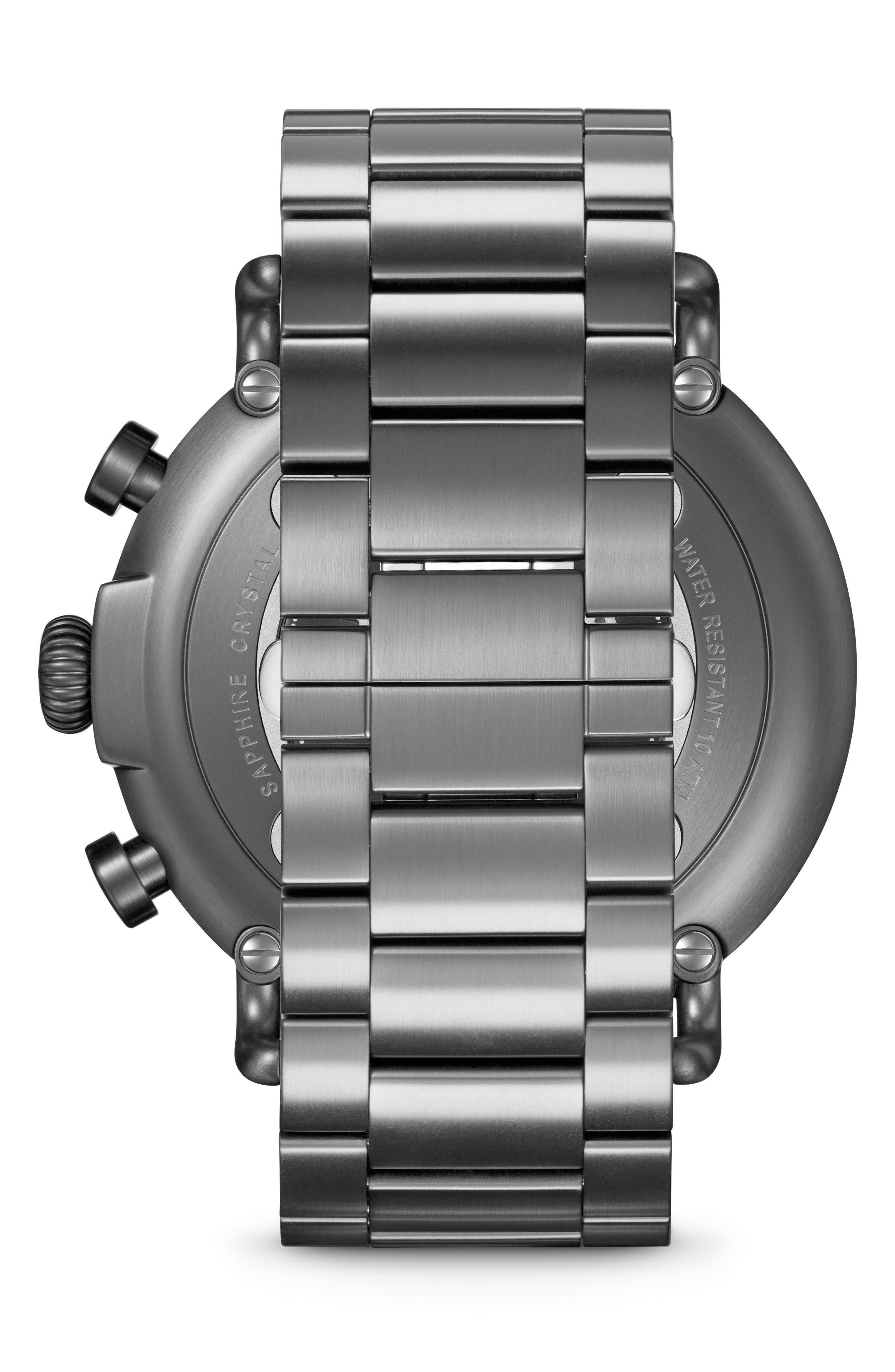 'The Runwell Chrono' Bracelet Watch, 47mm,                             Alternate thumbnail 2, color,                             GUNMETAL/ NAVY/ GUNMETAL