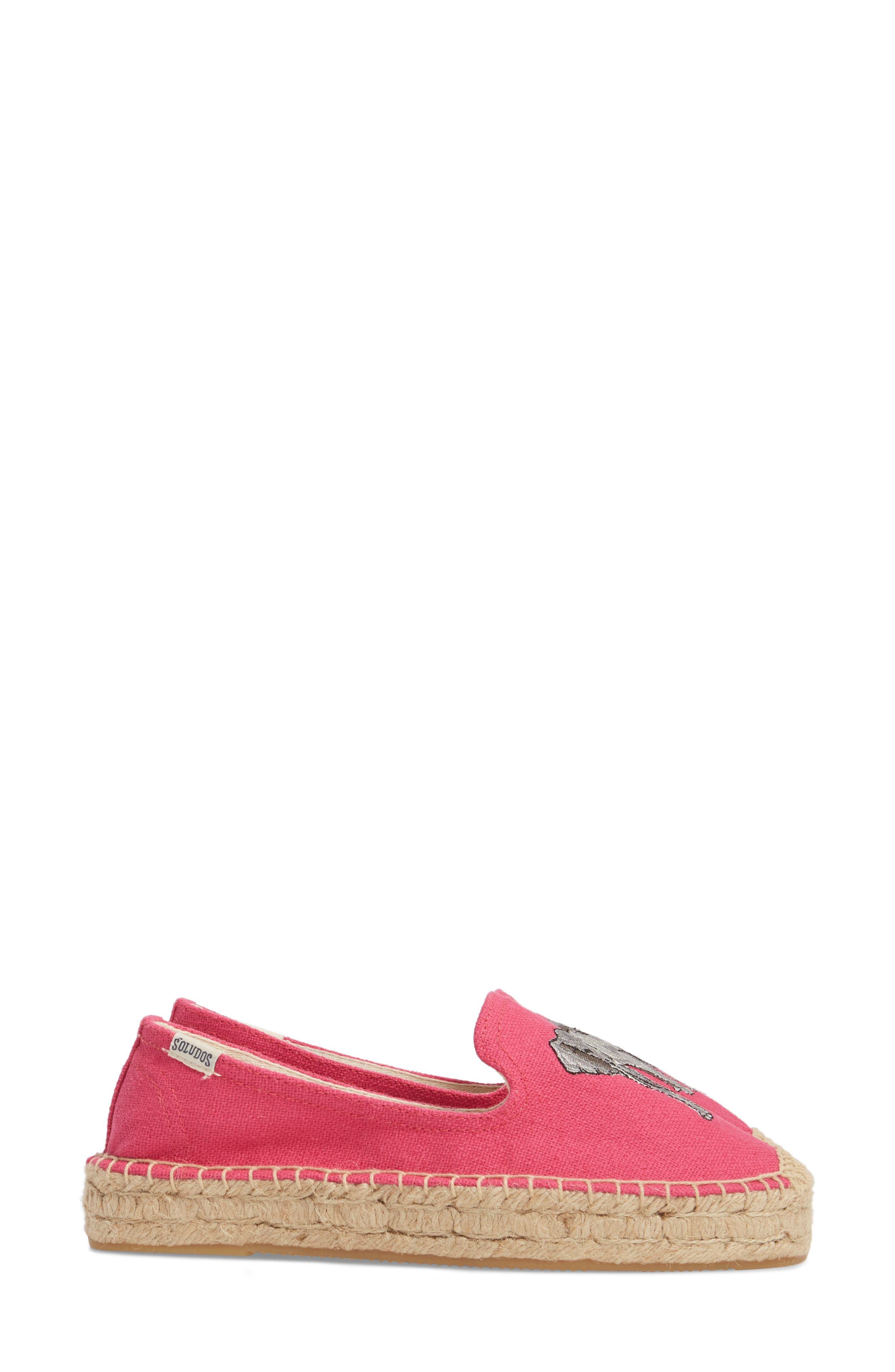 Embroidered Platform Espadrille,                             Alternate thumbnail 3, color,                             652