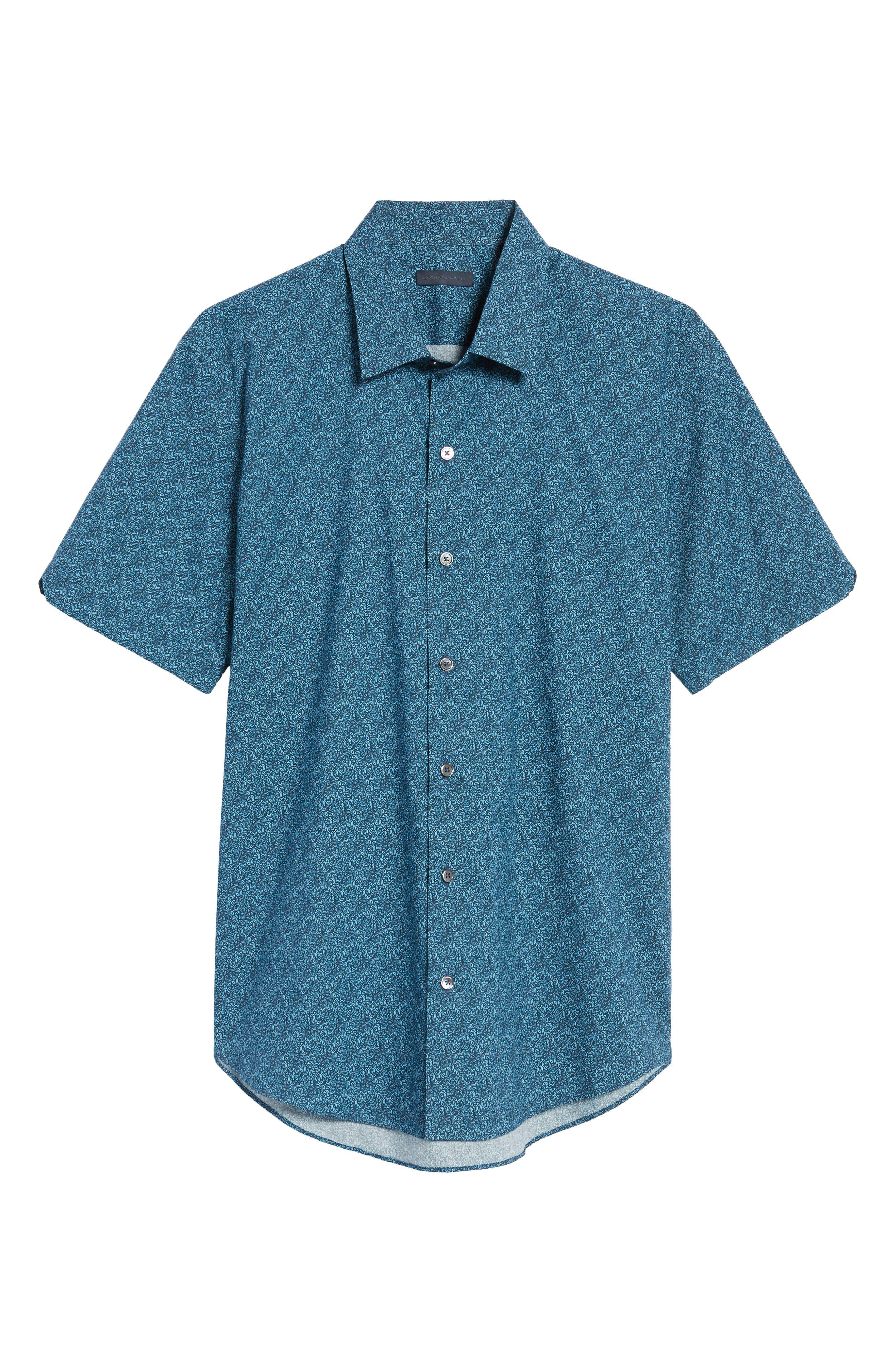 Machnee Slim Fit Print Sport Shirt,                             Alternate thumbnail 6, color,                             401