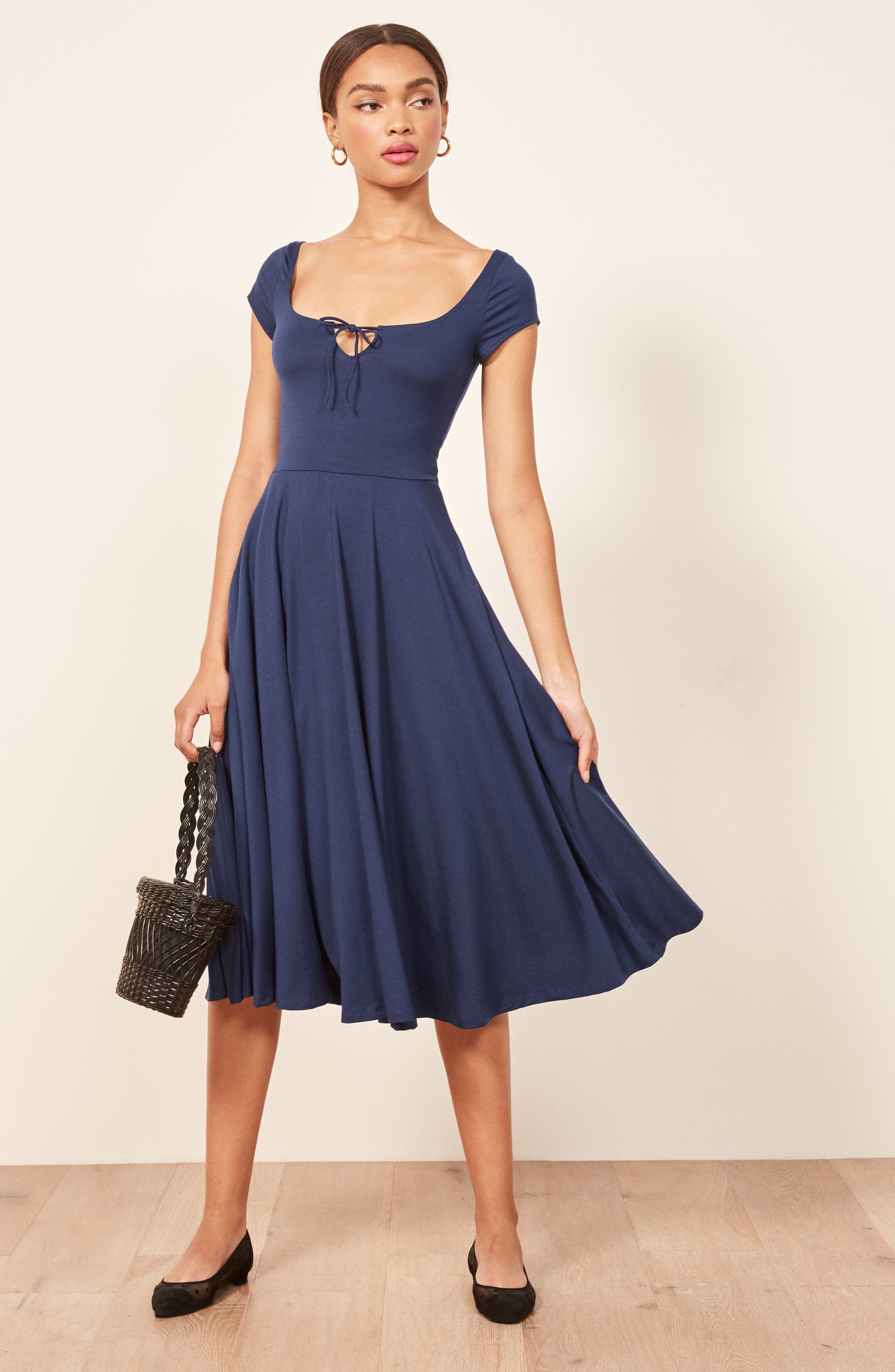 Krista Dress,                             Alternate thumbnail 7, color,                             NAVY