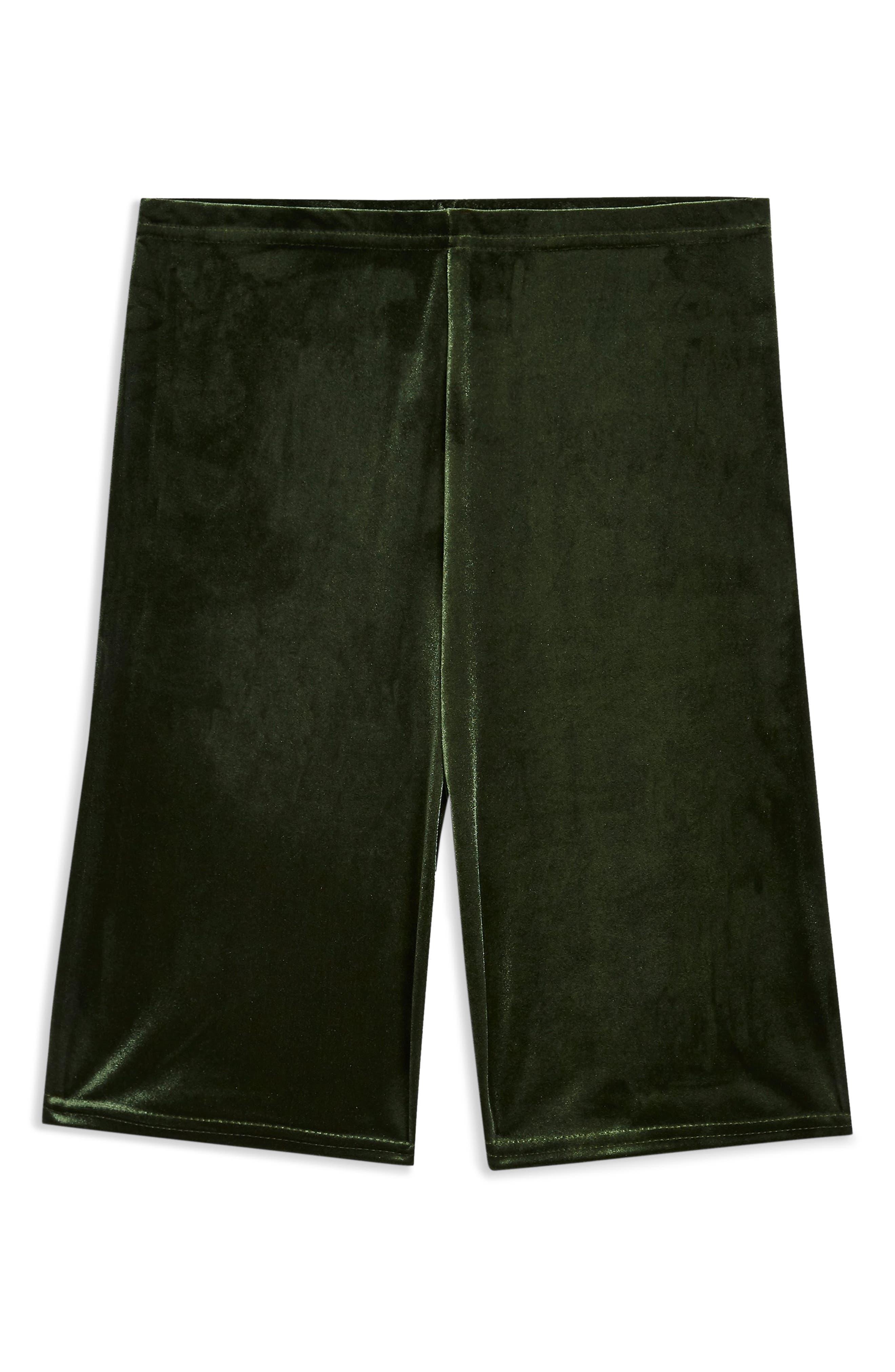 Velvet Cycling Shorts,                             Alternate thumbnail 3, color,                             OLIVE