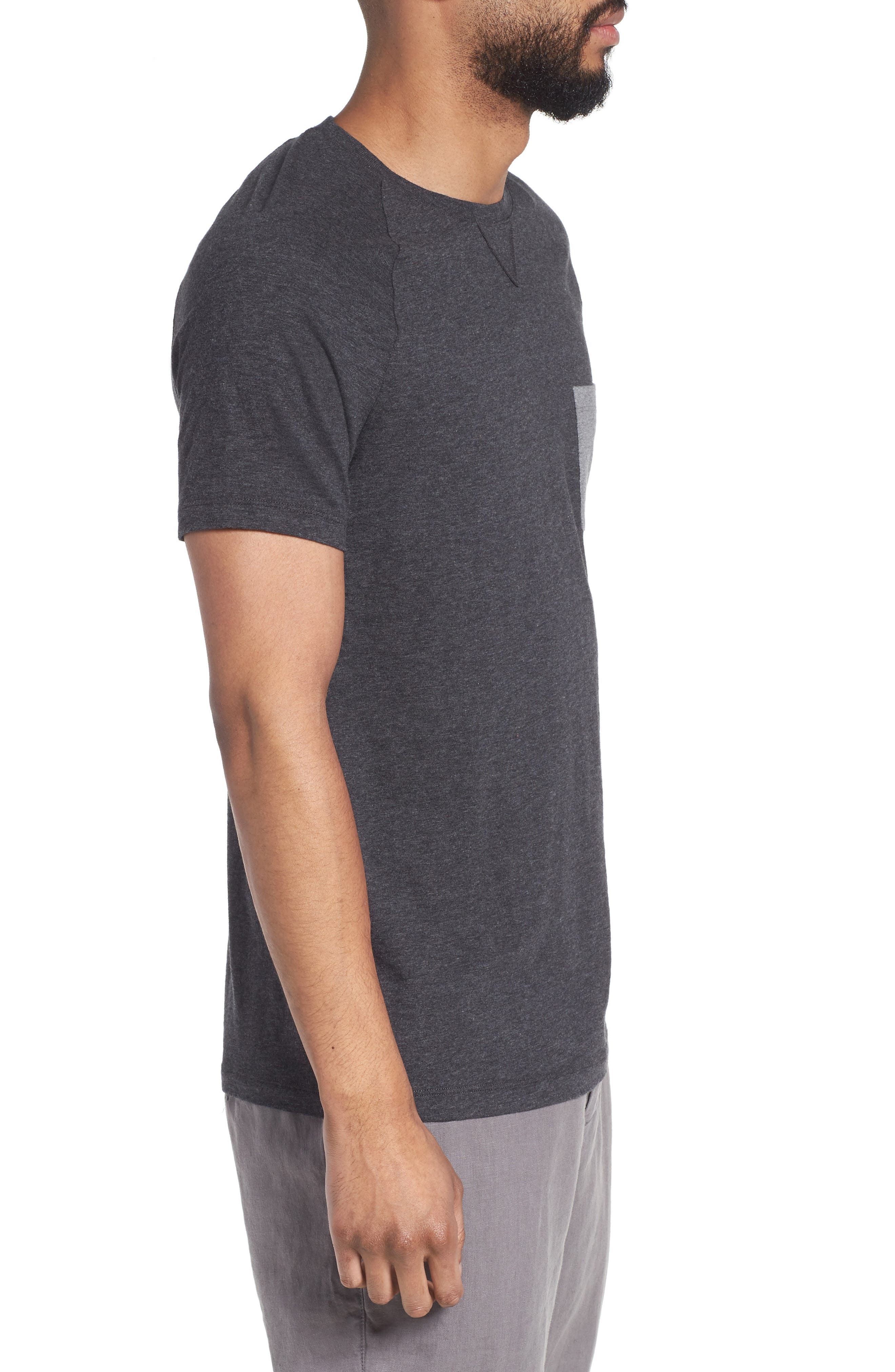 Tessler Slim Fit Pocket T-Shirt,                             Alternate thumbnail 3, color,                             001