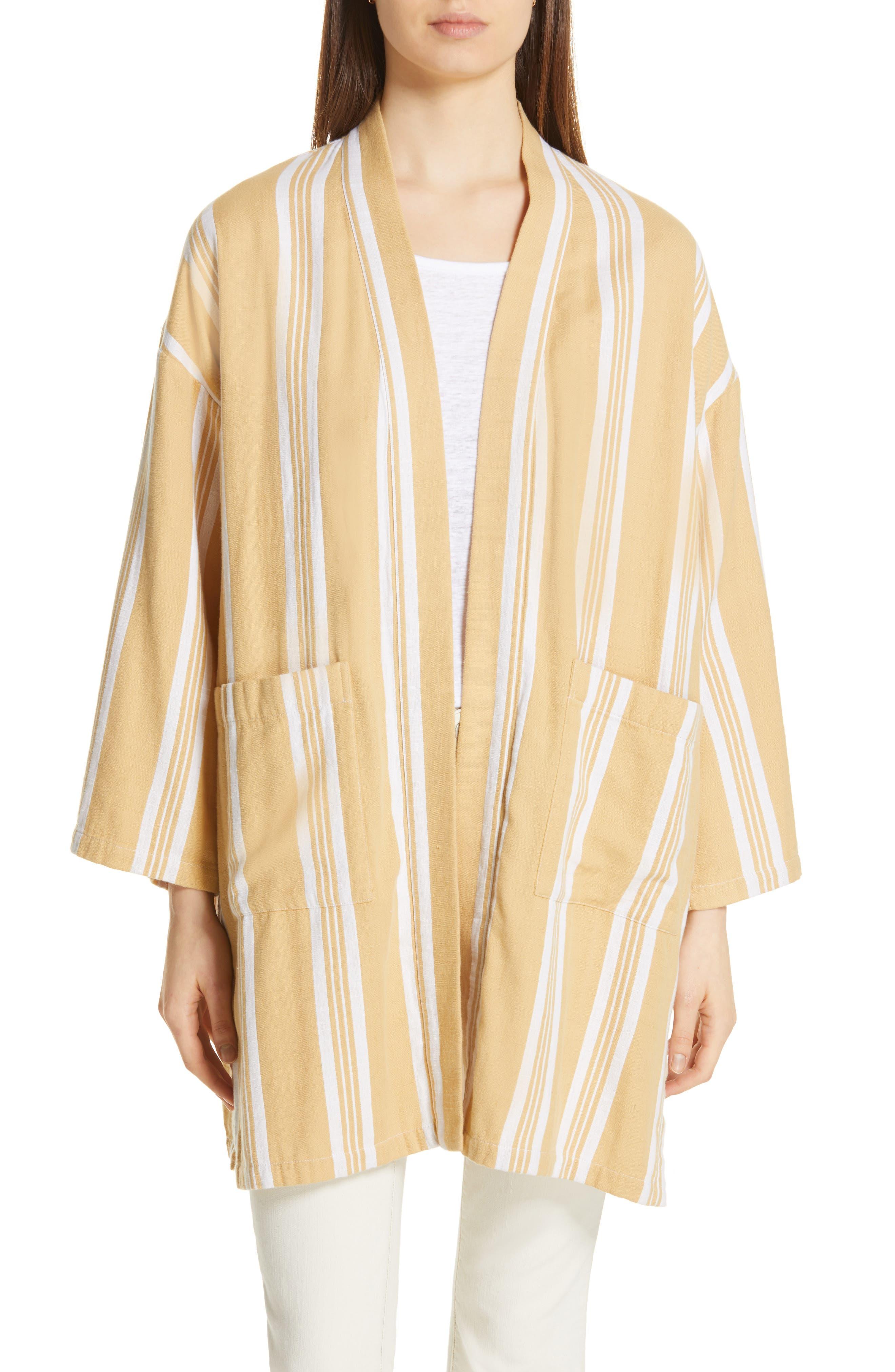 women's eileen fisher stripe kimono jacket