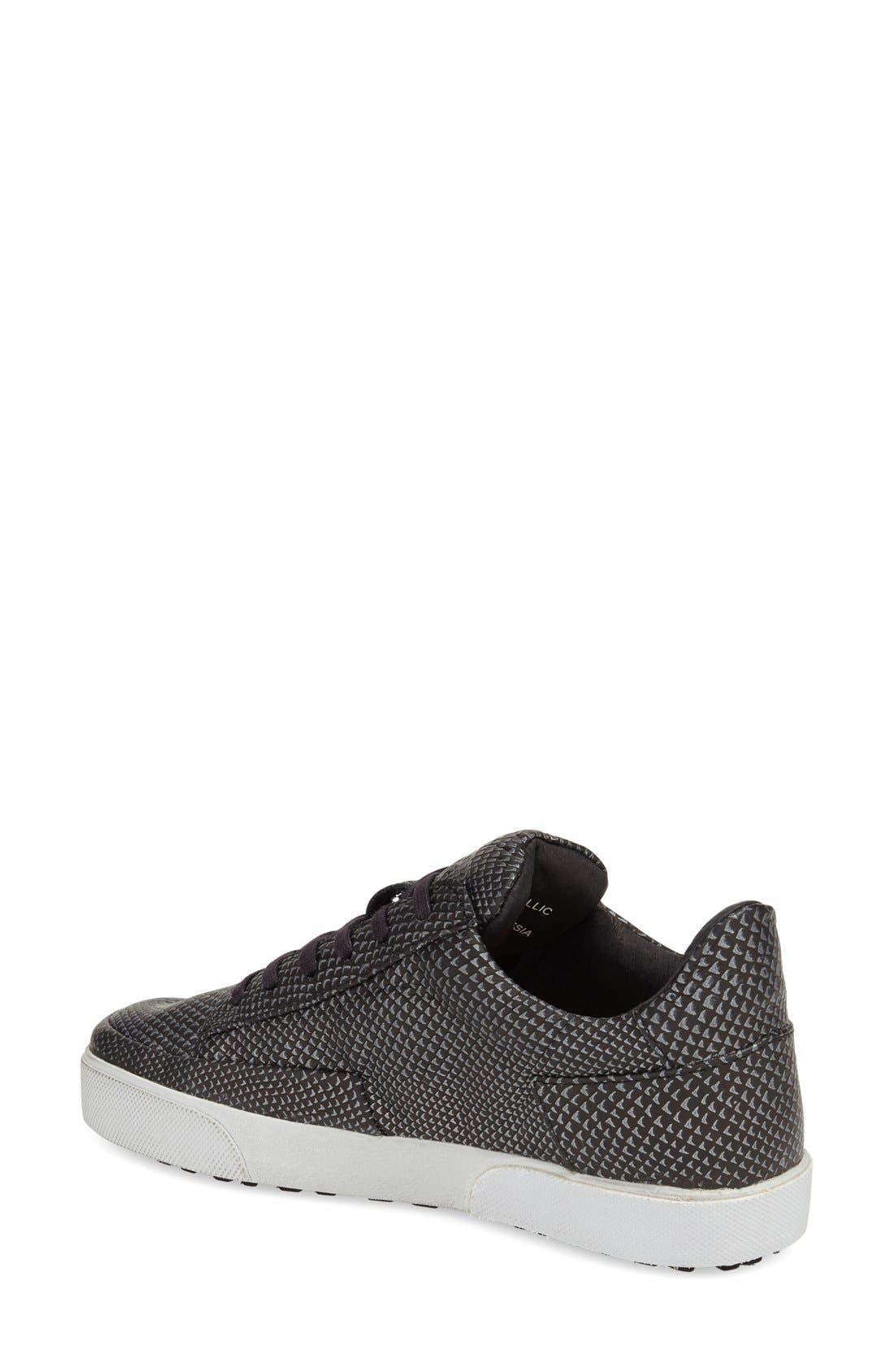 'KL51' Sneaker,                             Alternate thumbnail 2, color,                             BLACK METALLIC PRINTED LEATHER