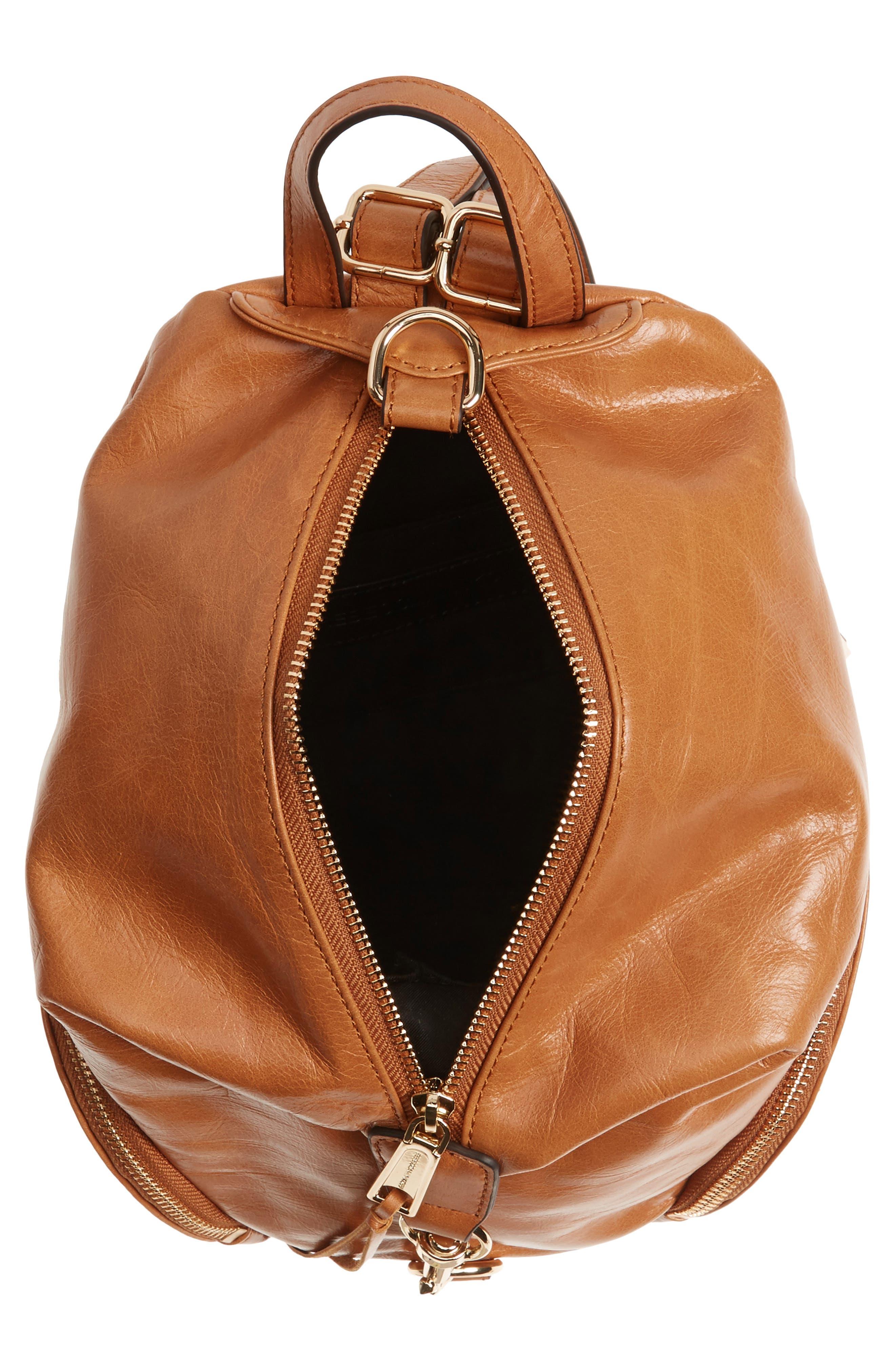 Medium Julian Leather Backpack,                             Alternate thumbnail 16, color,