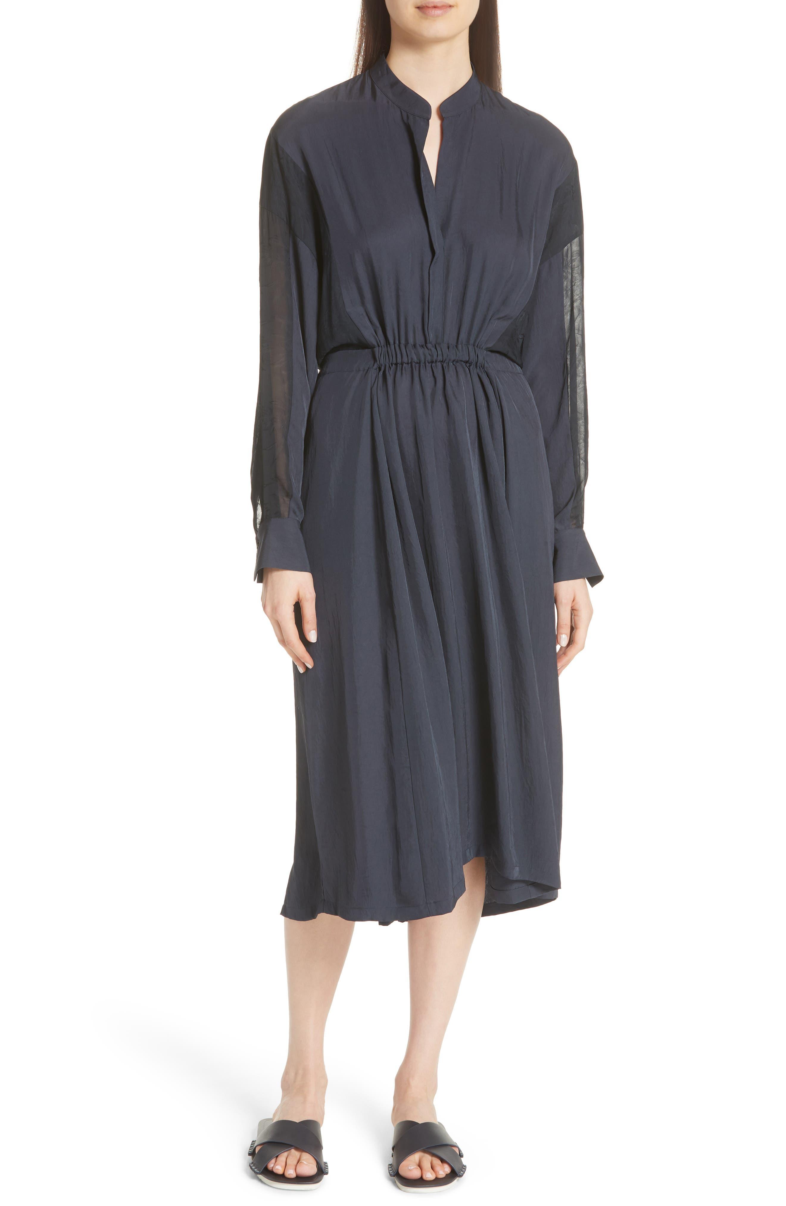Mixed Media Midi Dress, Main, color, 403