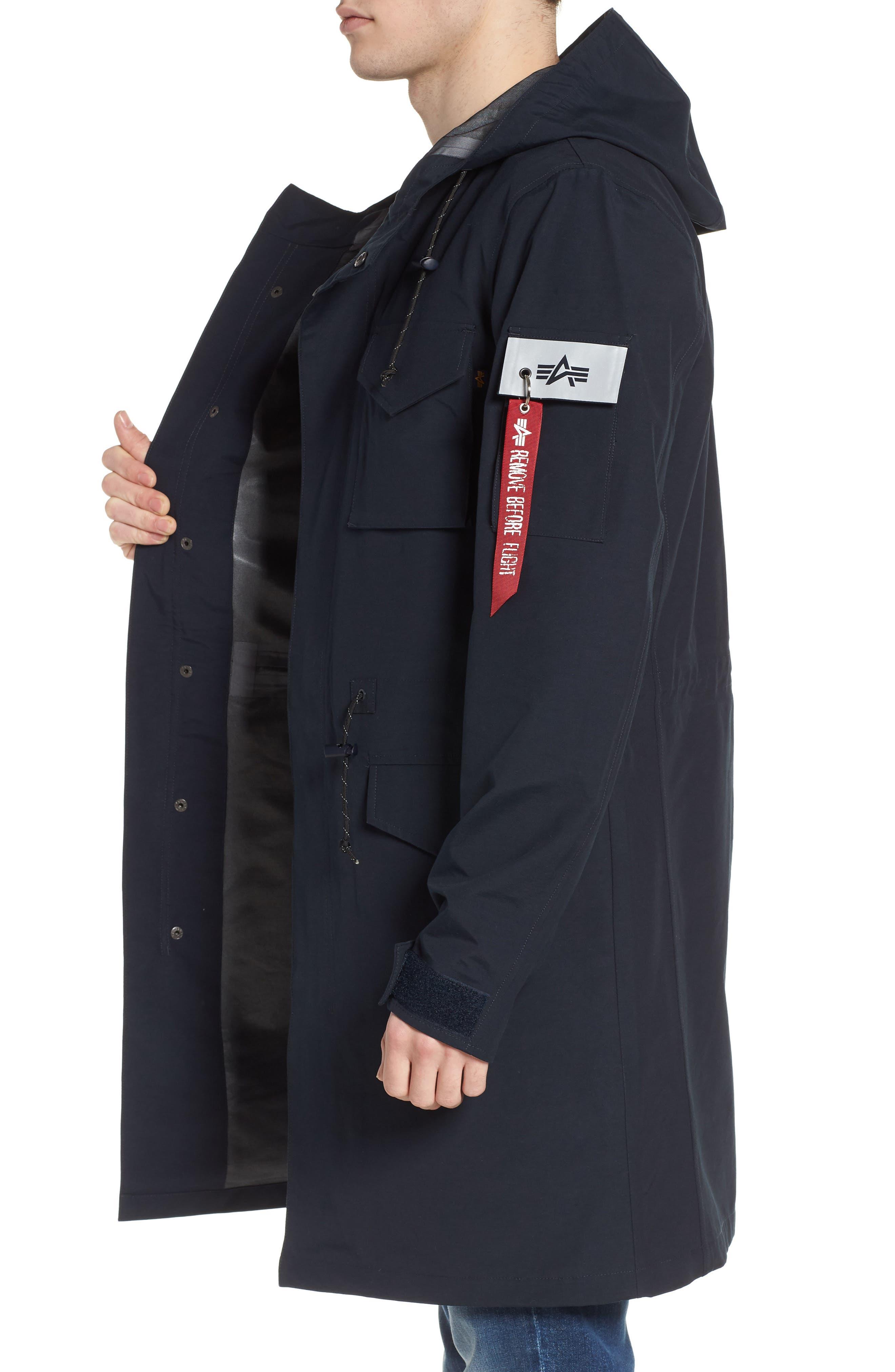 Quartermaster Waterproof Field Coat,                             Alternate thumbnail 3, color,                             410