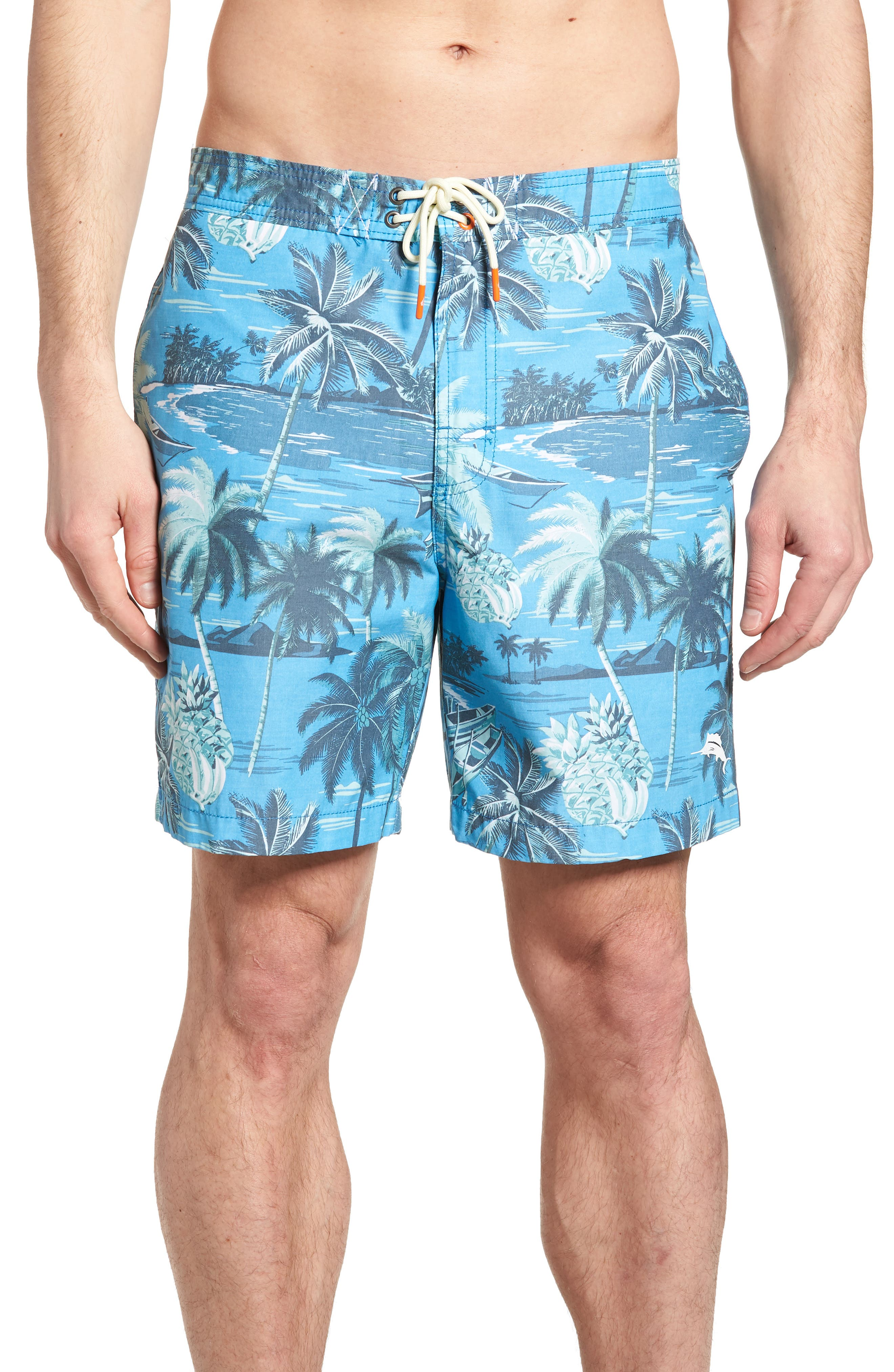 Baja Puerto Vallarta Palms Board Shorts,                             Main thumbnail 1, color,