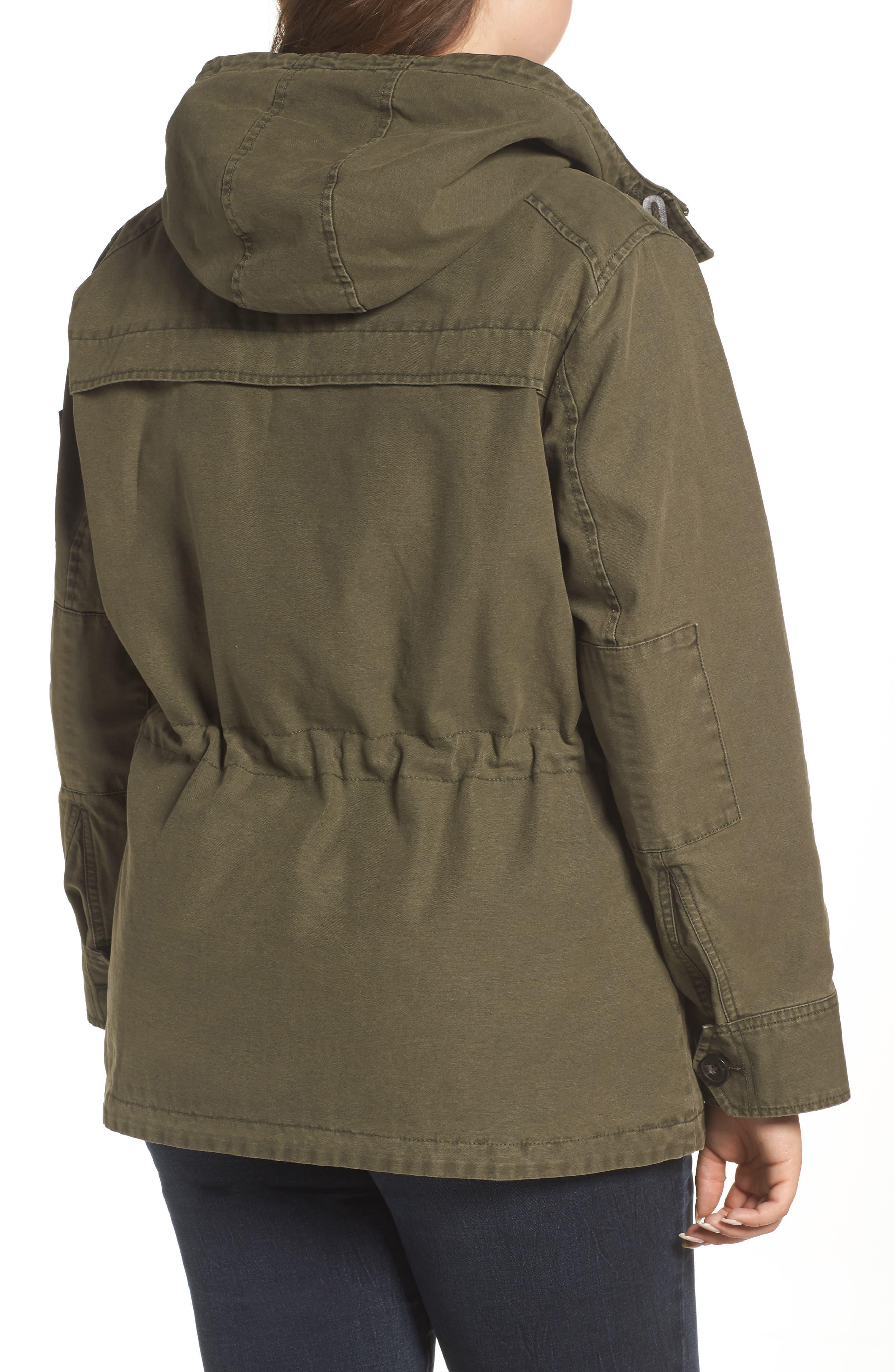 Hooded Cotton Utility Jacket,                             Alternate thumbnail 6, color,