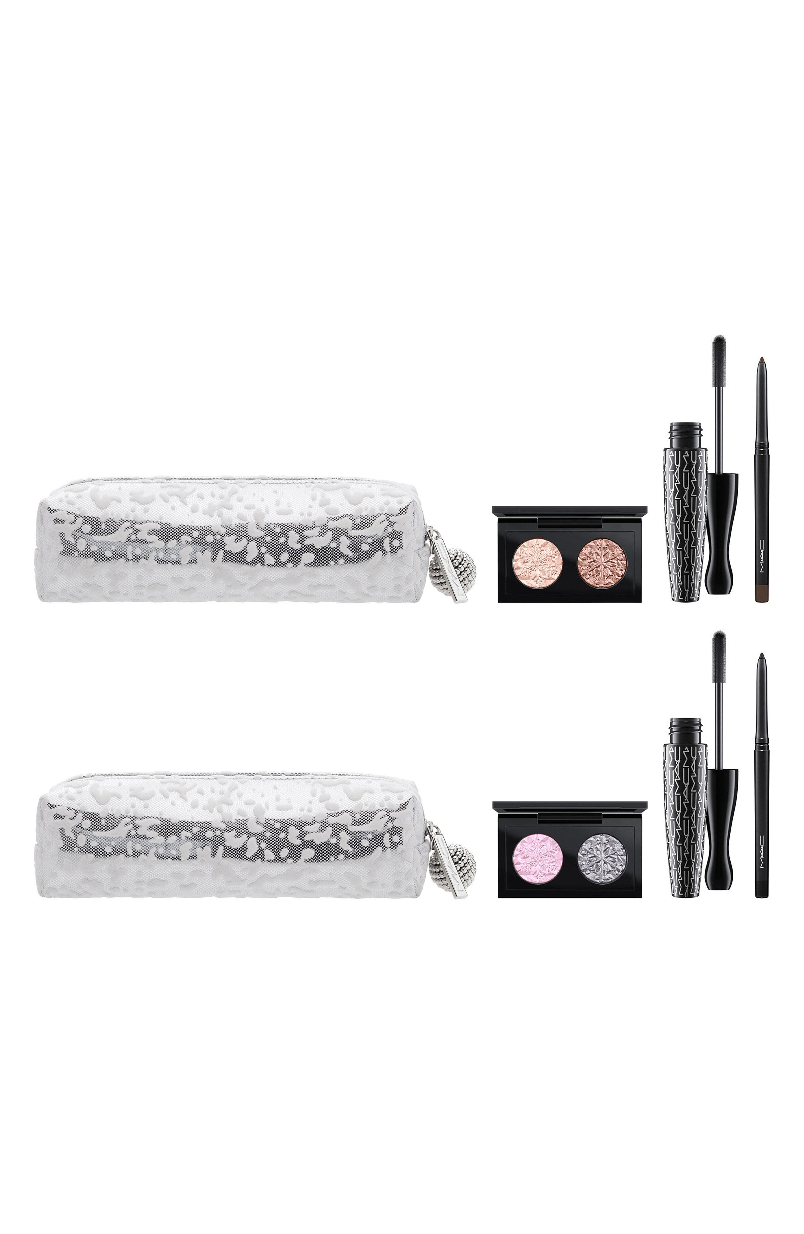 MAC Snow Ball Smoky Gold Eye Bag,                             Alternate thumbnail 4, color,                             000