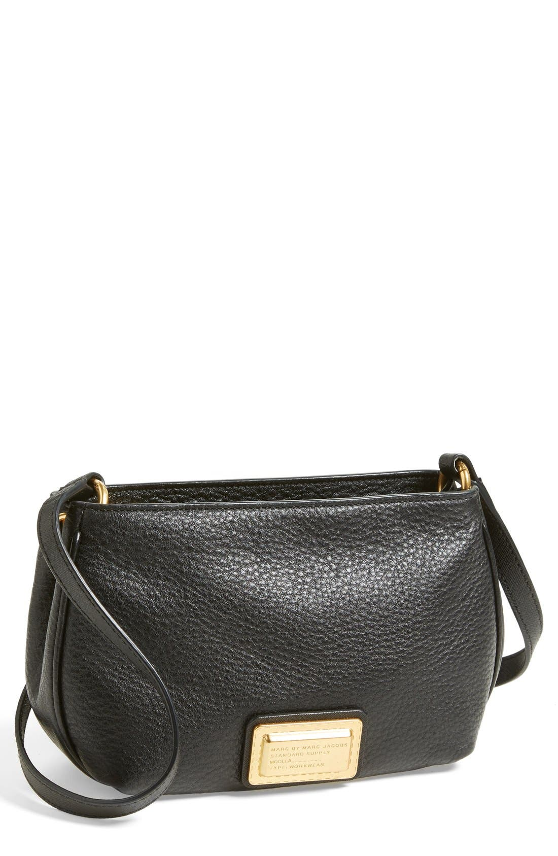 MARC JACOBS,                             MARC BY MARC JACOBS 'Percy' Crossbody Bag,                             Main thumbnail 1, color,                             001
