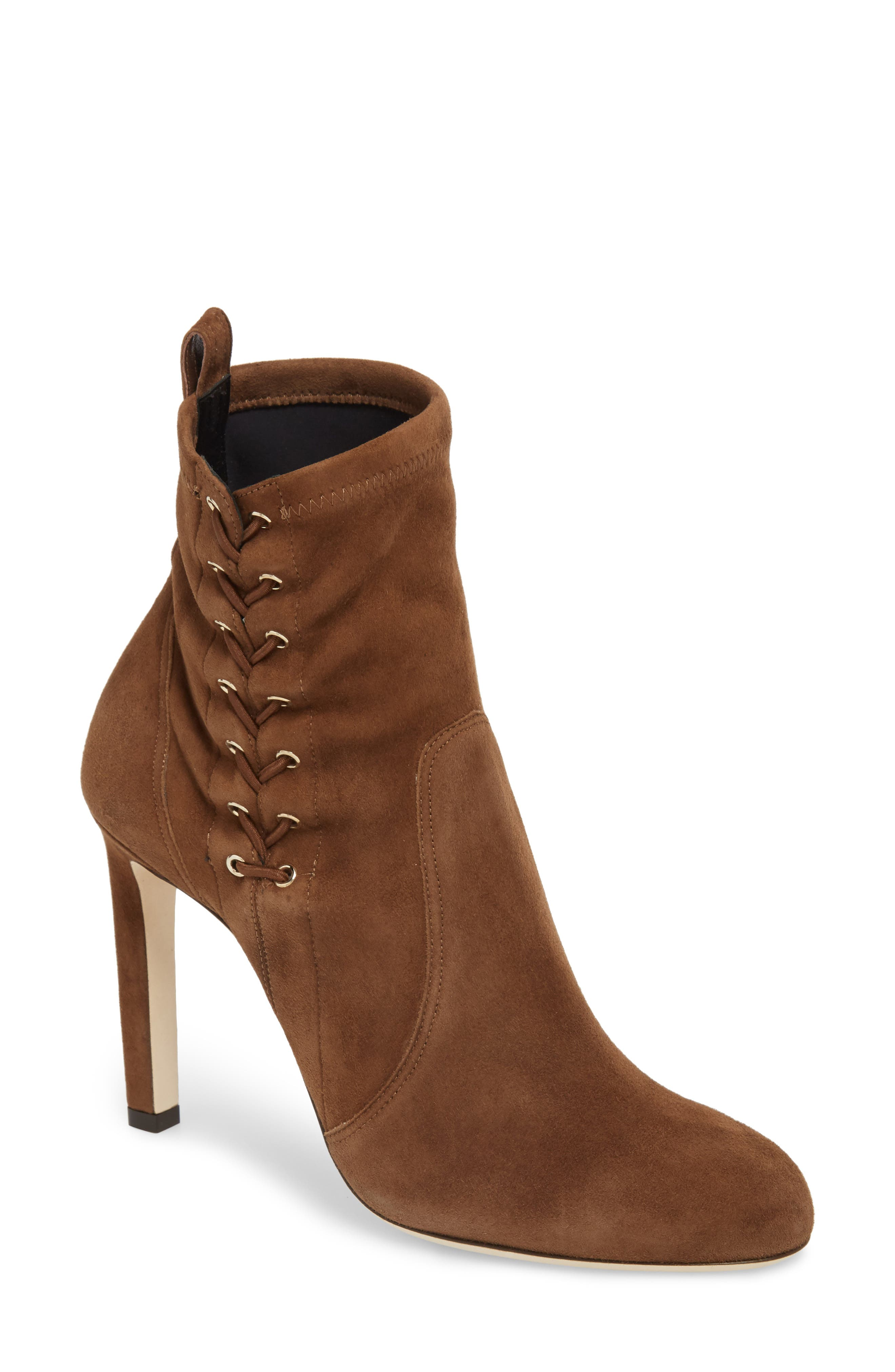 Jimmy Choo Mallory Corset Bootie, Brown