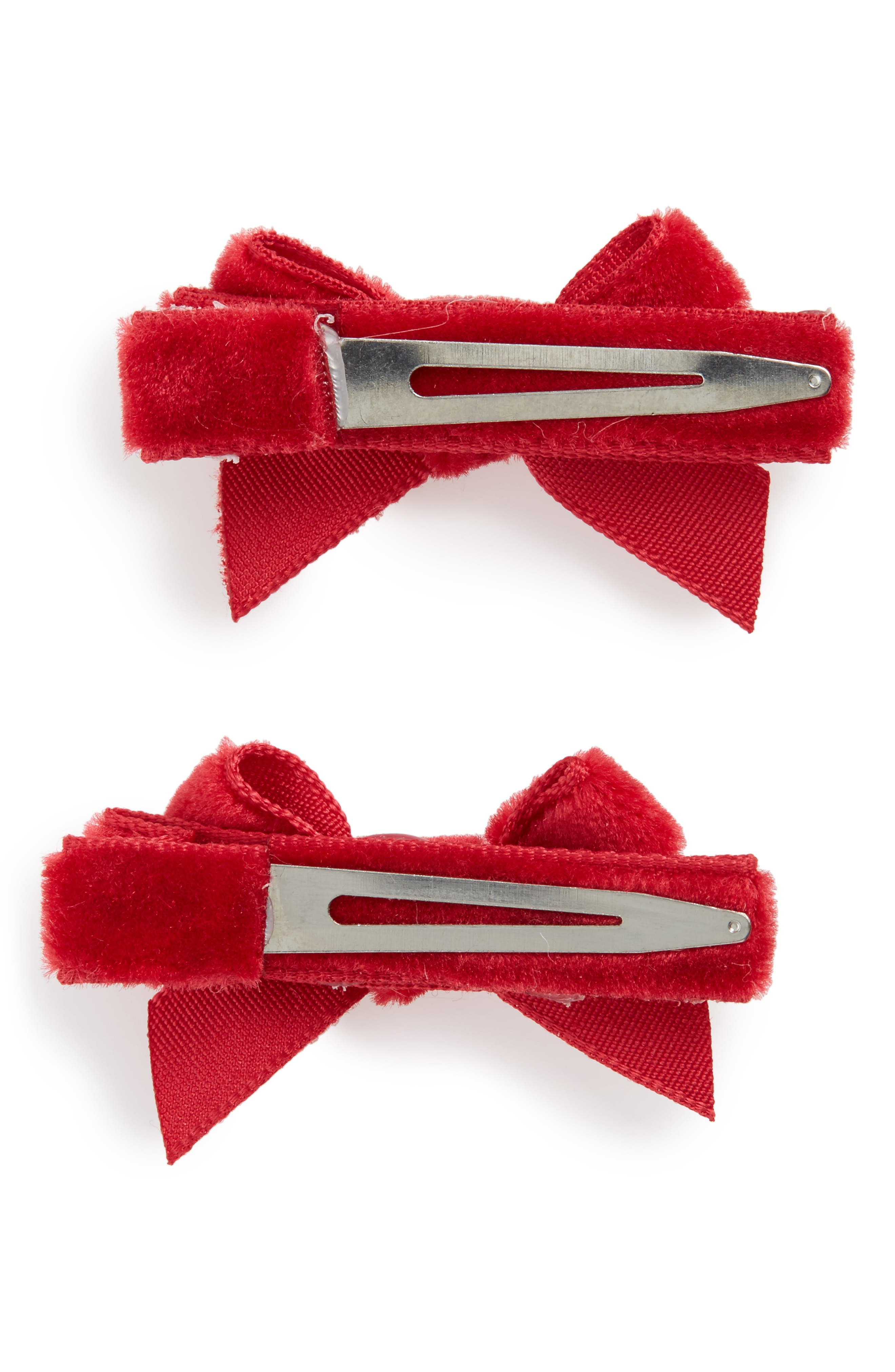 2-Pack Bow Clips,                             Alternate thumbnail 4, color,