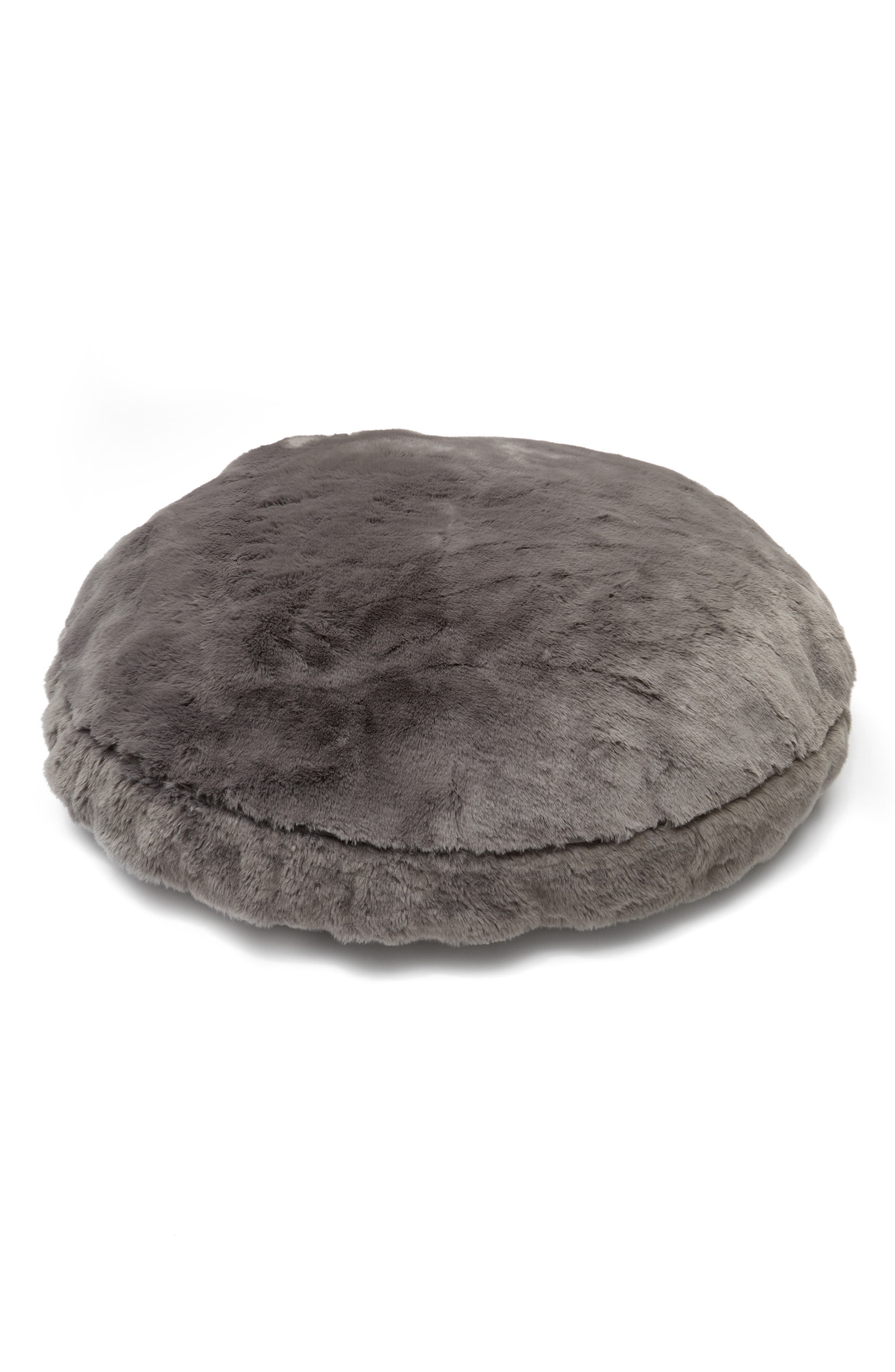 Cuddle Up Large Faux Fur Pet Bed,                             Main thumbnail 1, color,                             021