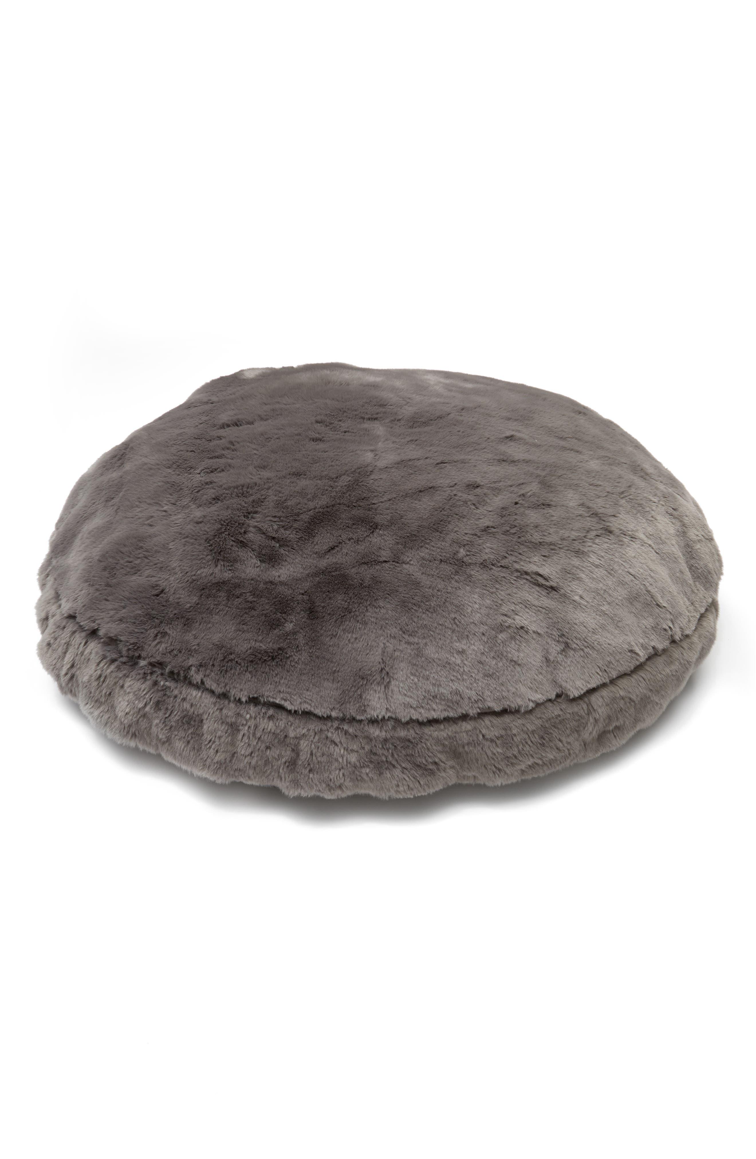 Cuddle Up Large Faux Fur Pet Bed, Main, color, 021