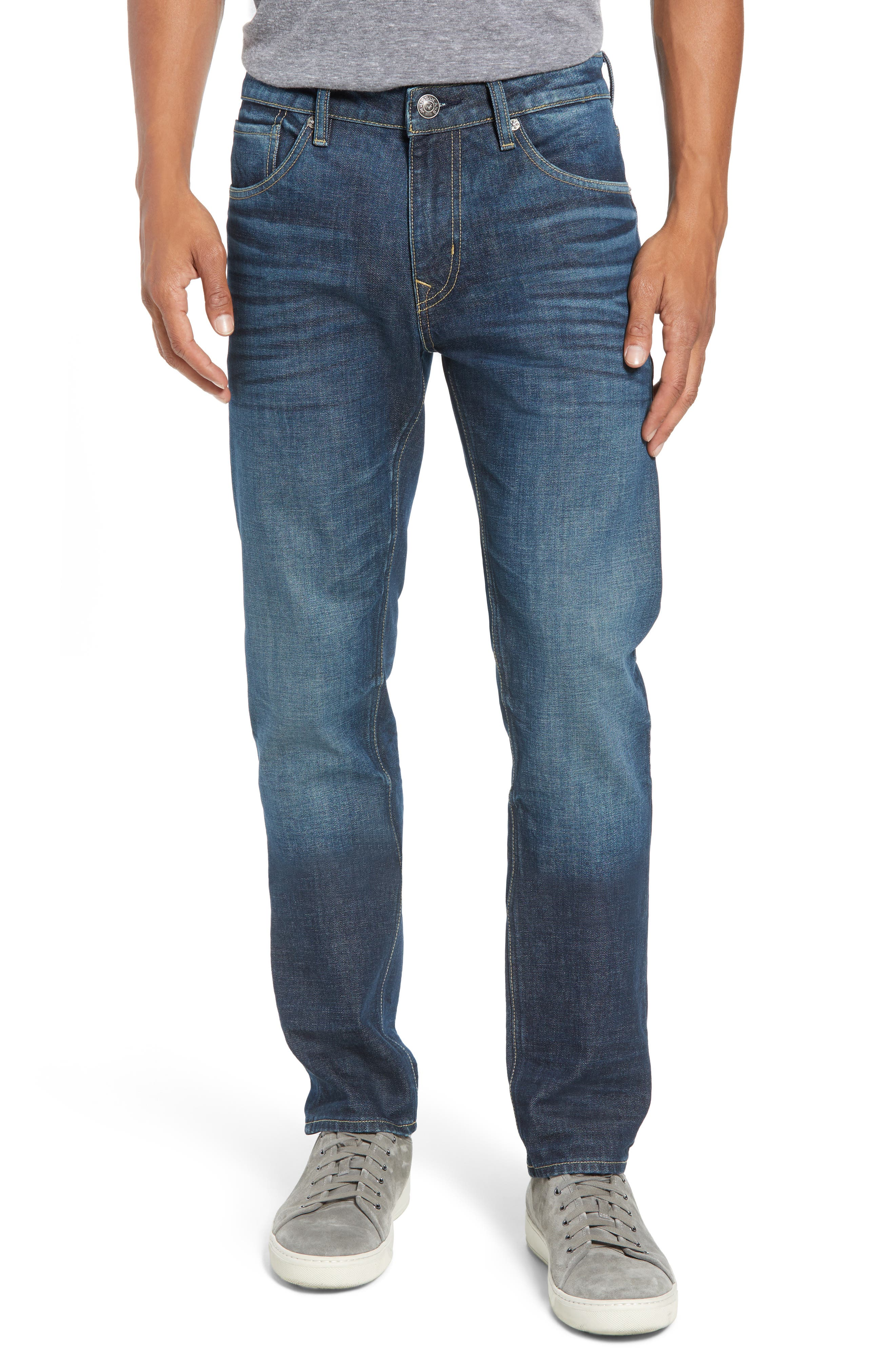 Mick Slim Fit Jeans,                             Main thumbnail 1, color,                             DARK 3D WASH