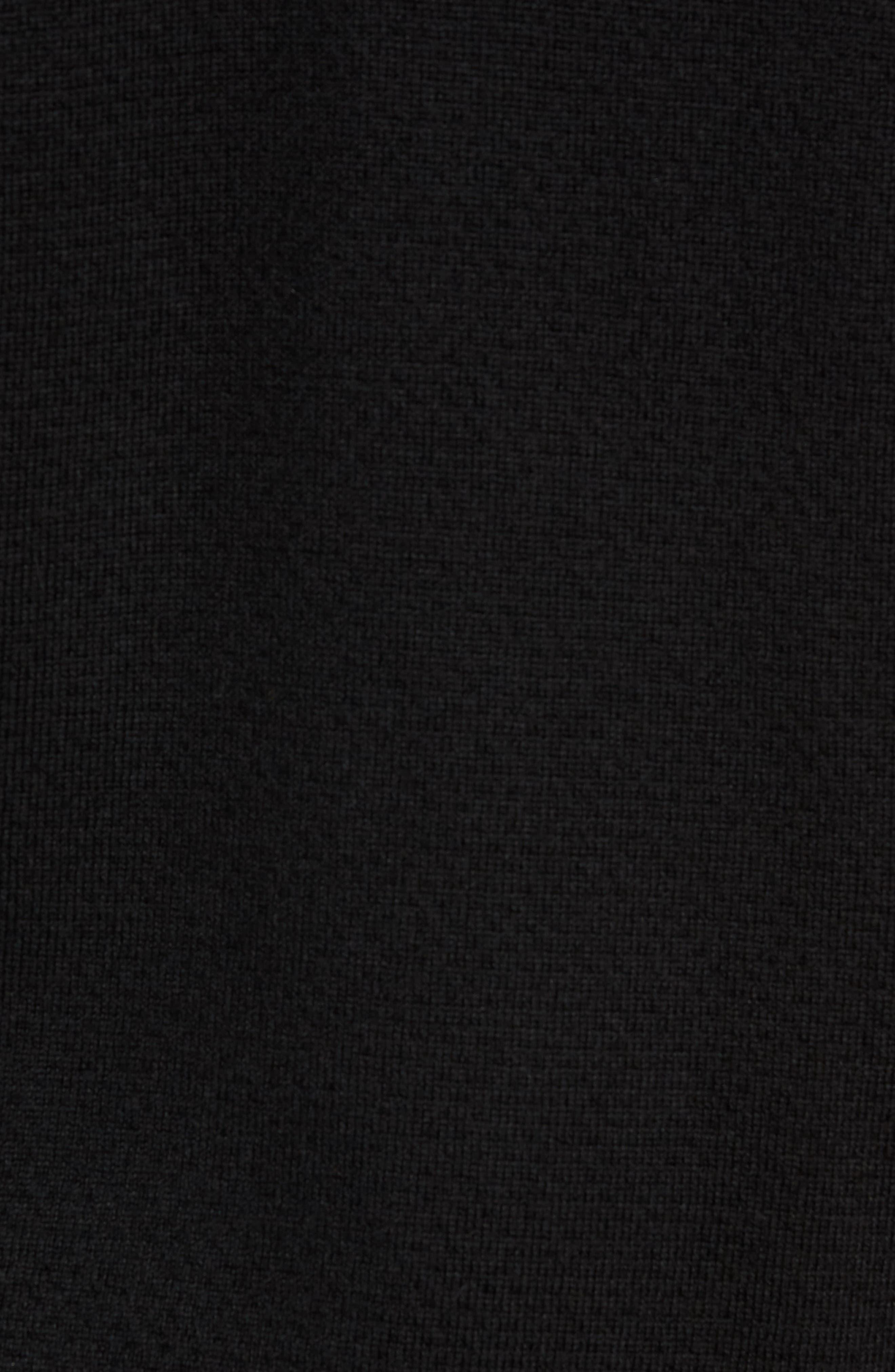 Orwell Slim Fit Wool Bomber Jacket,                             Alternate thumbnail 6, color,                             BLACK/ BLACK
