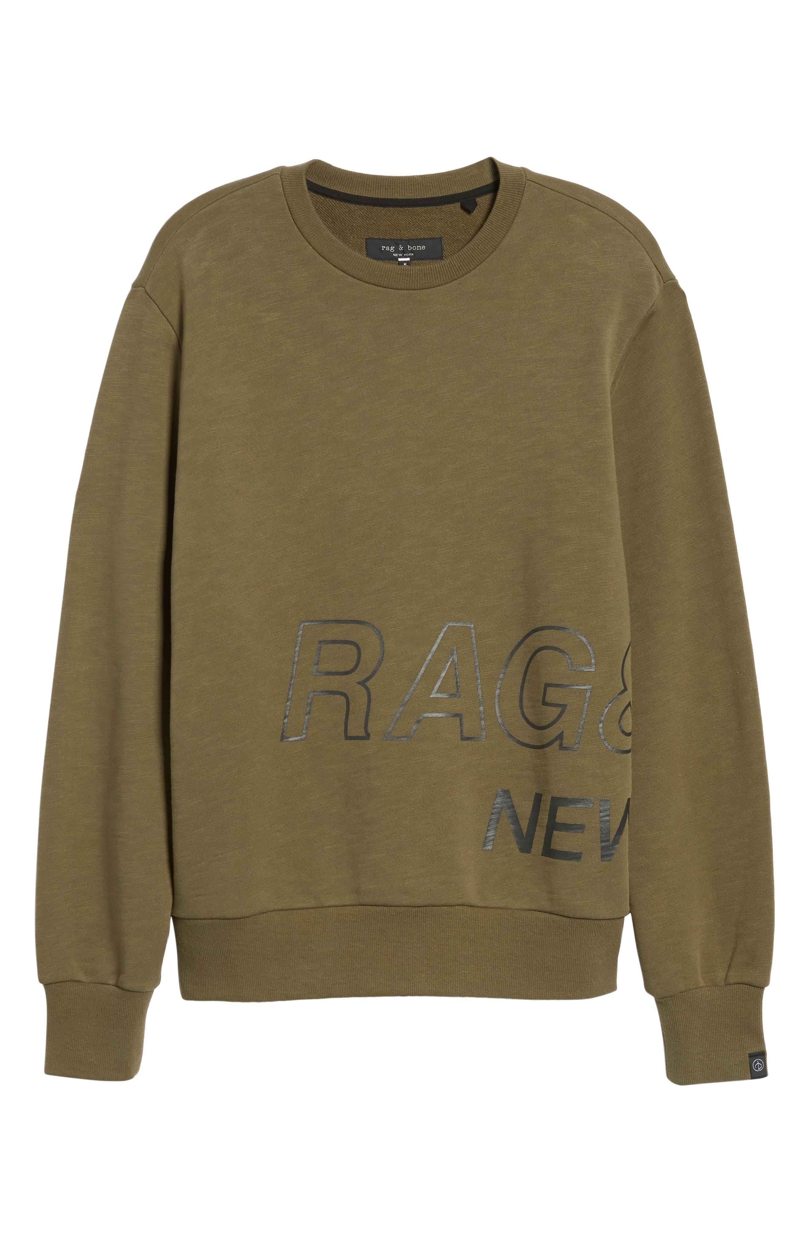 Crewneck Sweatshirt,                             Alternate thumbnail 6, color,                             319