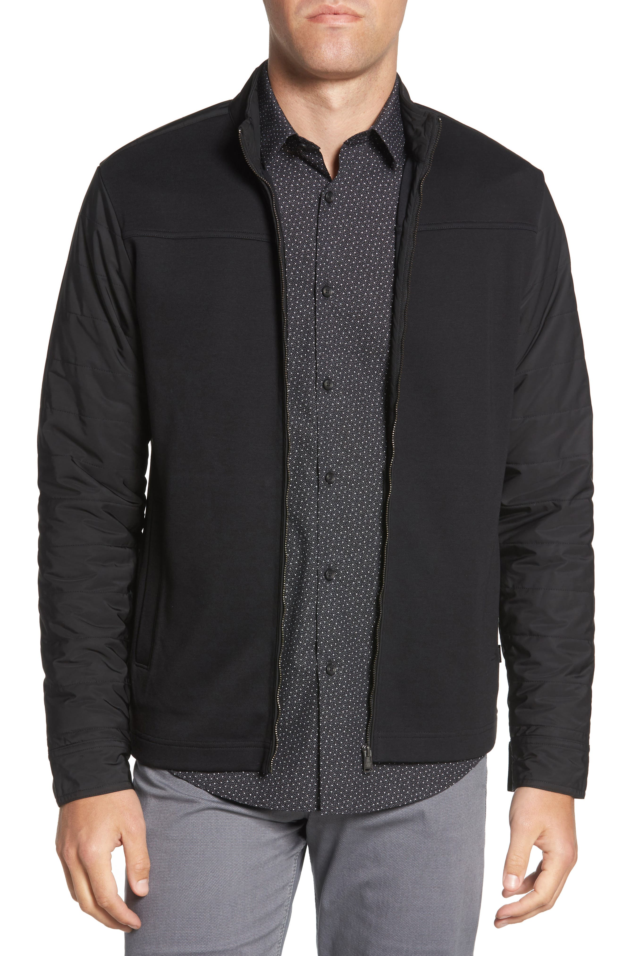 Soule Slim Fit Moto Jacket,                             Main thumbnail 1, color,                             BLACK