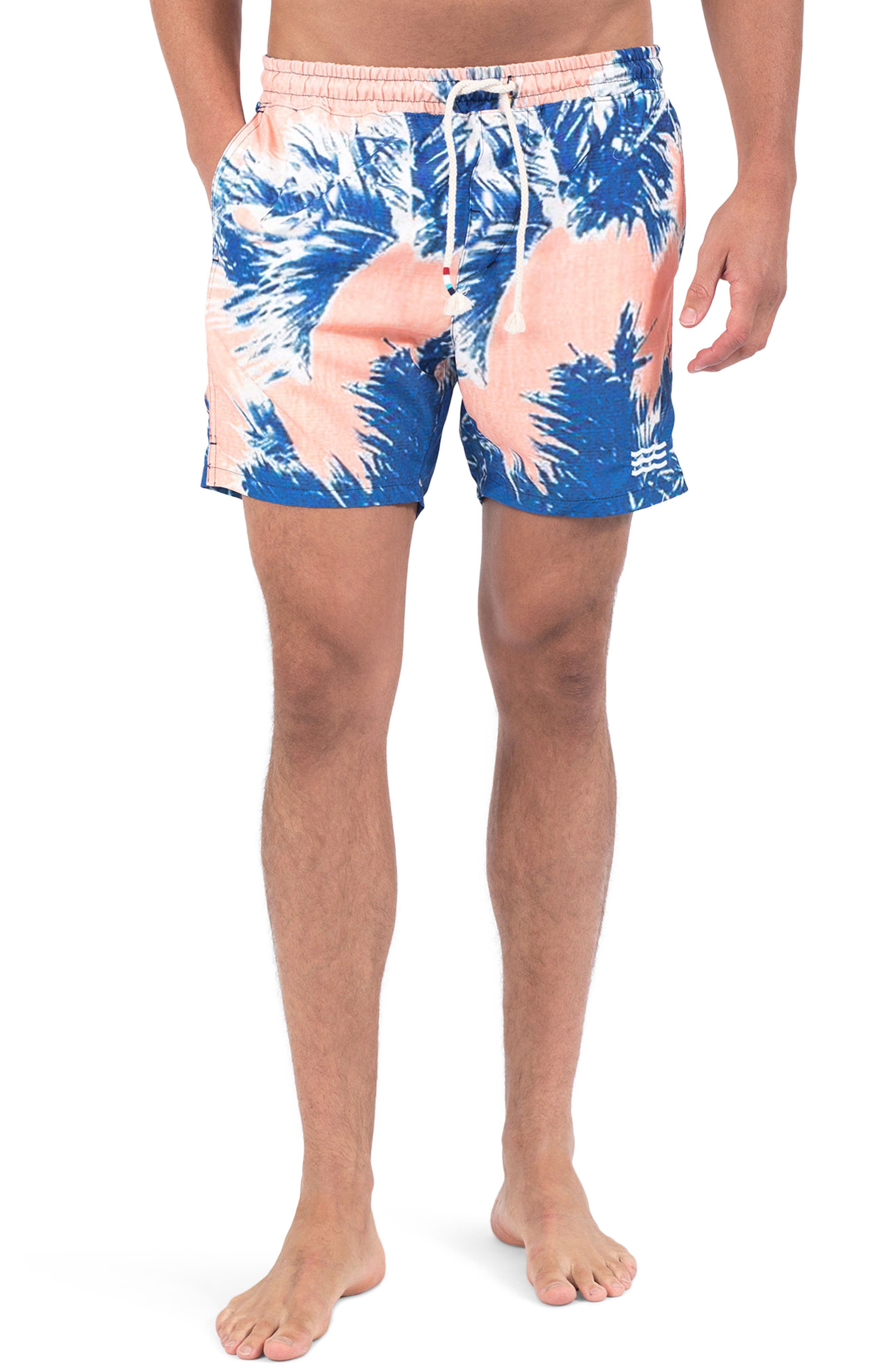 Paleta Palm Swim Shorts,                         Main,                         color, PALETA PALM
