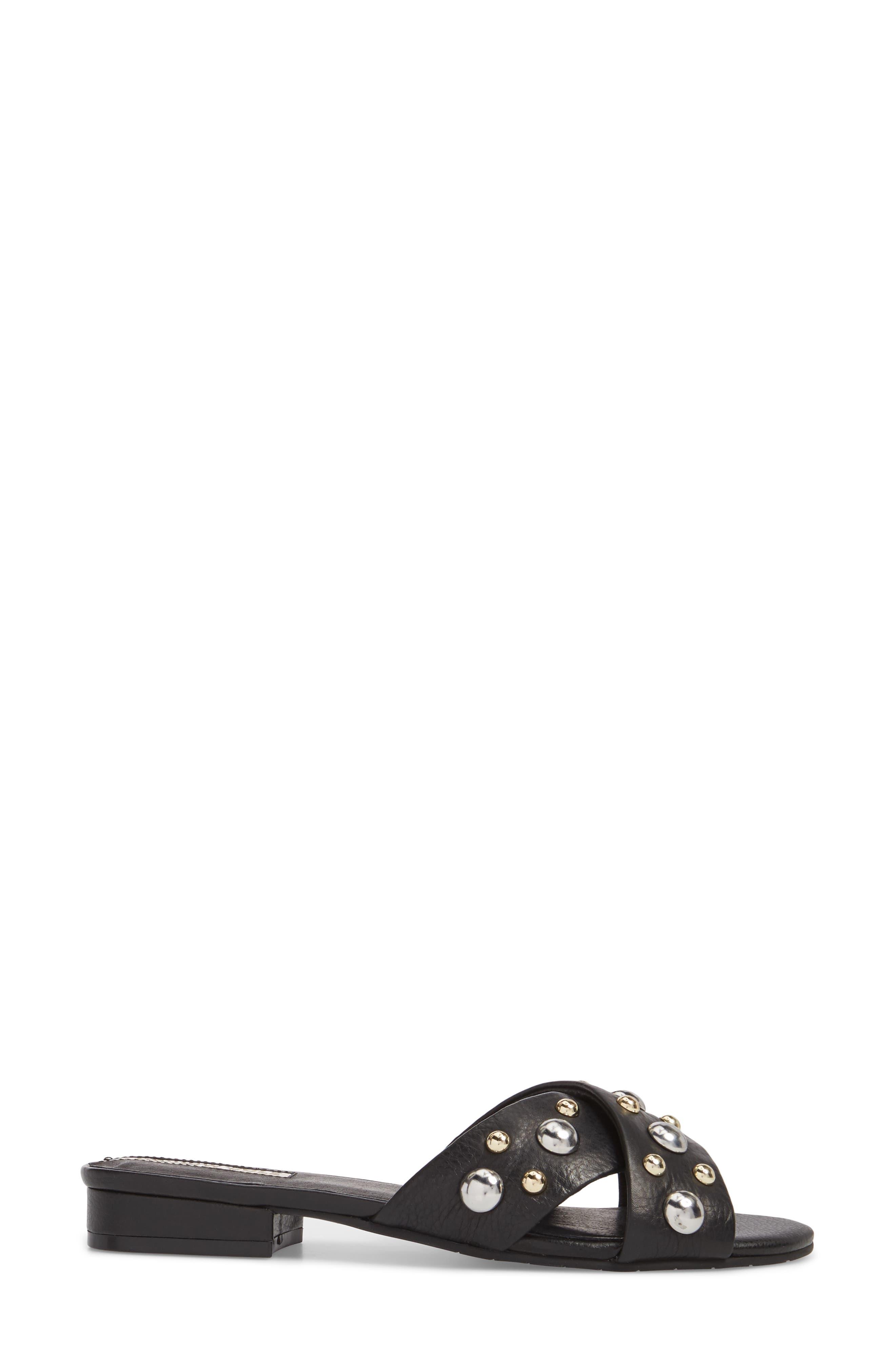 Verna Studded Slide Sandal,                             Alternate thumbnail 7, color,