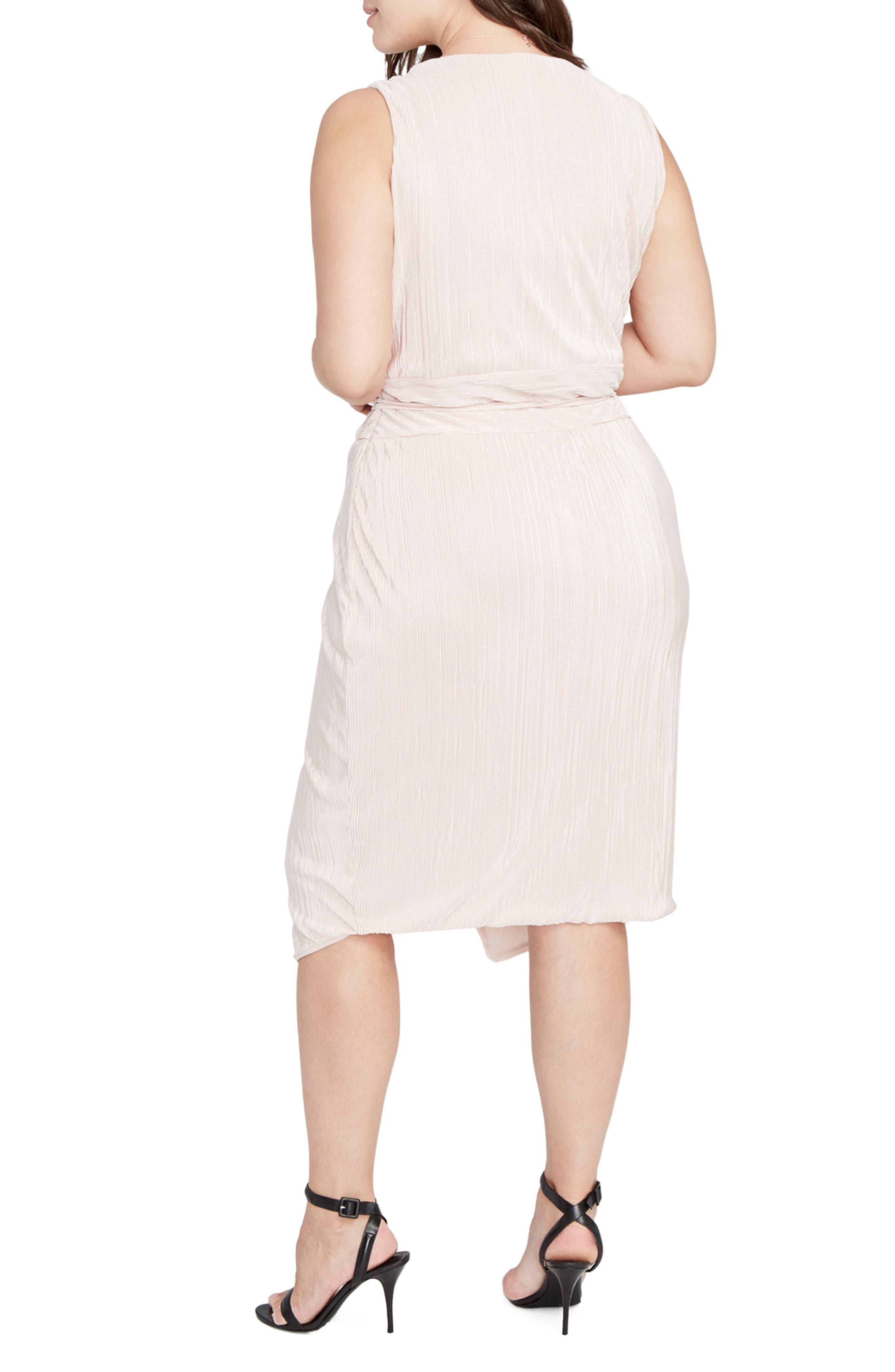 Foiled Faux Wrap Dress,                             Alternate thumbnail 4, color,