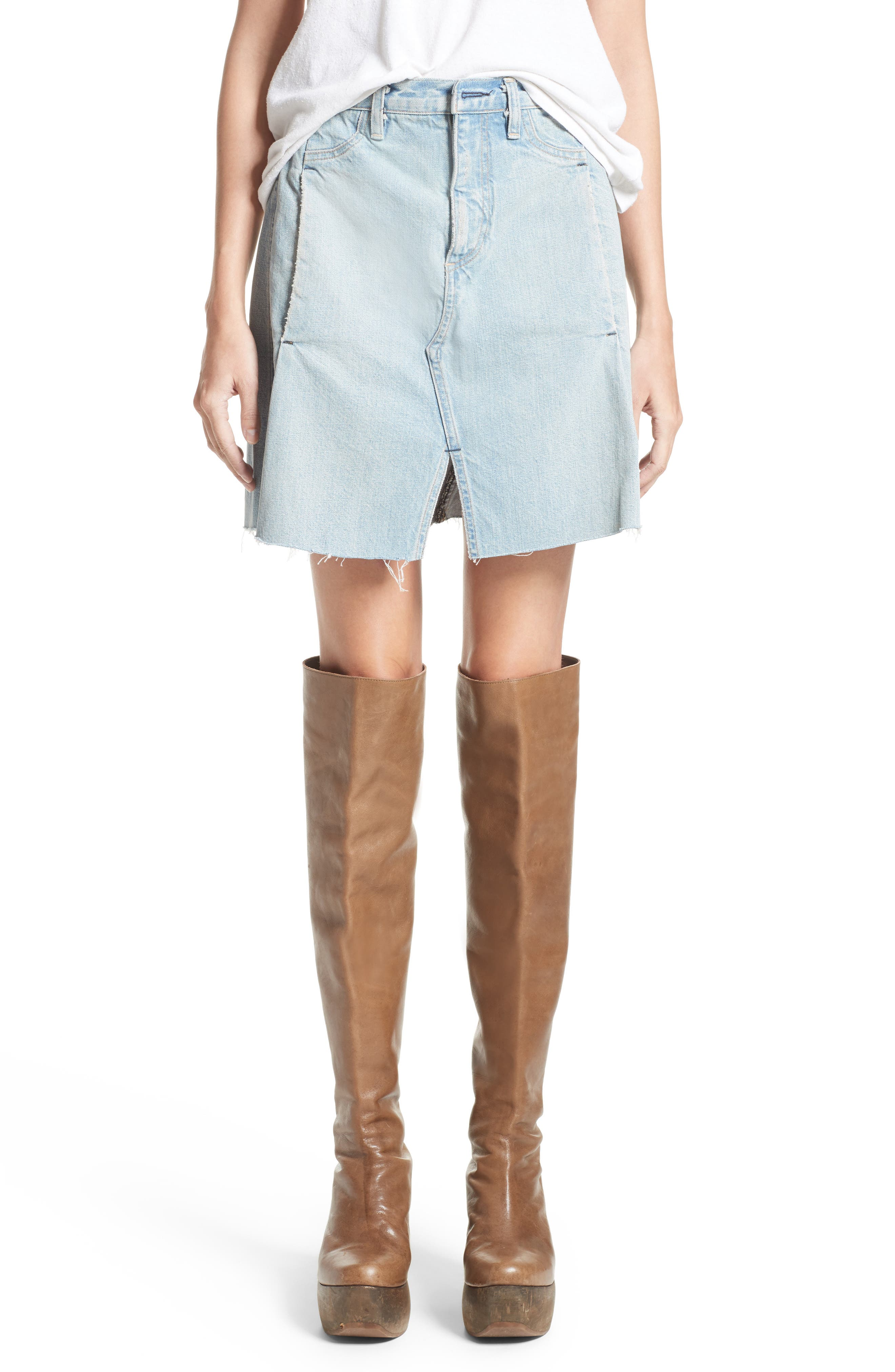 Denim Skirt,                         Main,                         color, 400