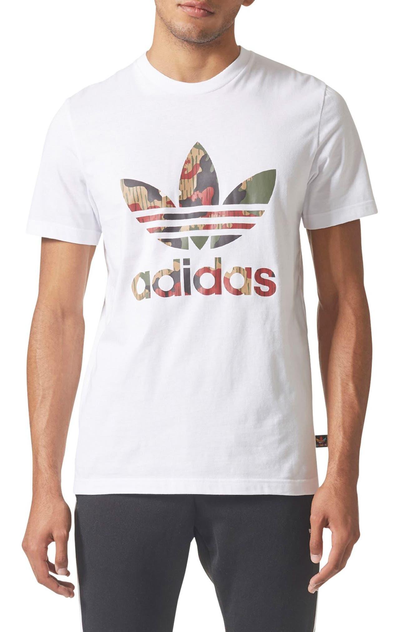 Originals Pharrell Williams Hu Hiking T-Shirt,                             Main thumbnail 1, color,                             100