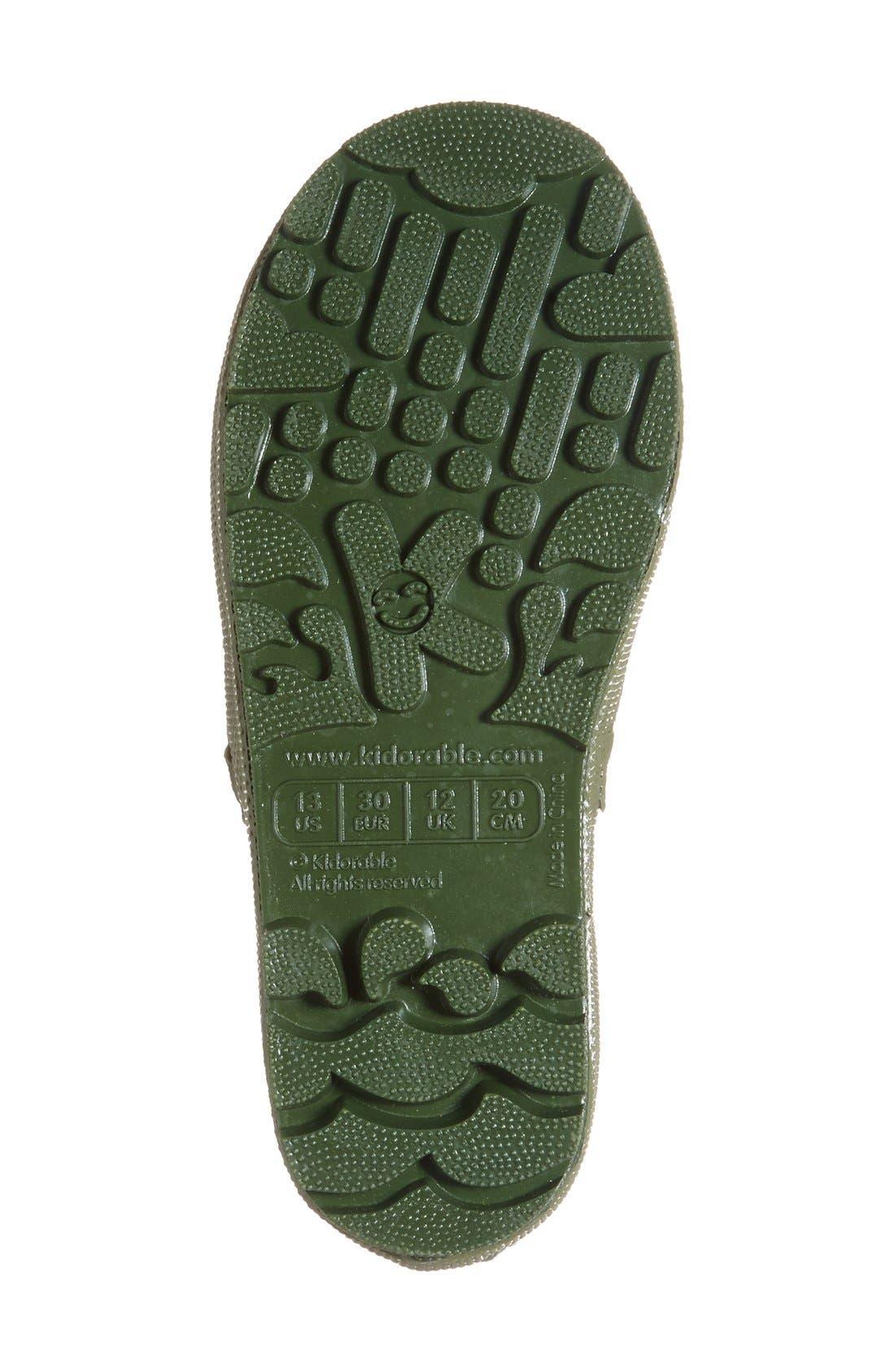 'Dinosaur' Waterproof Rain Boot,                             Alternate thumbnail 4, color,                             300