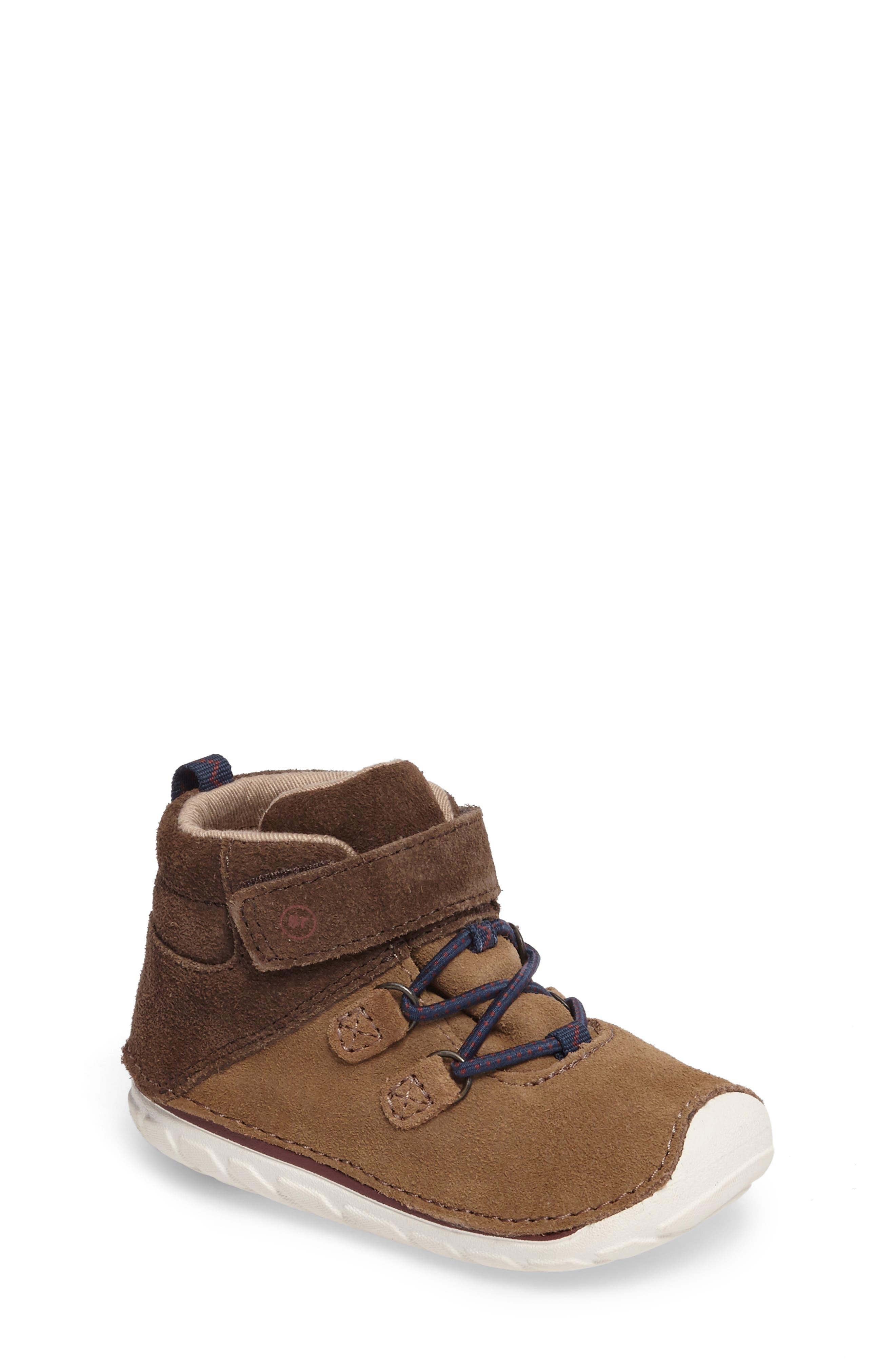 Soft Motion<sup>™</sup> Oliver High Top Sneaker,                             Main thumbnail 1, color,                             BROWN SUEDE