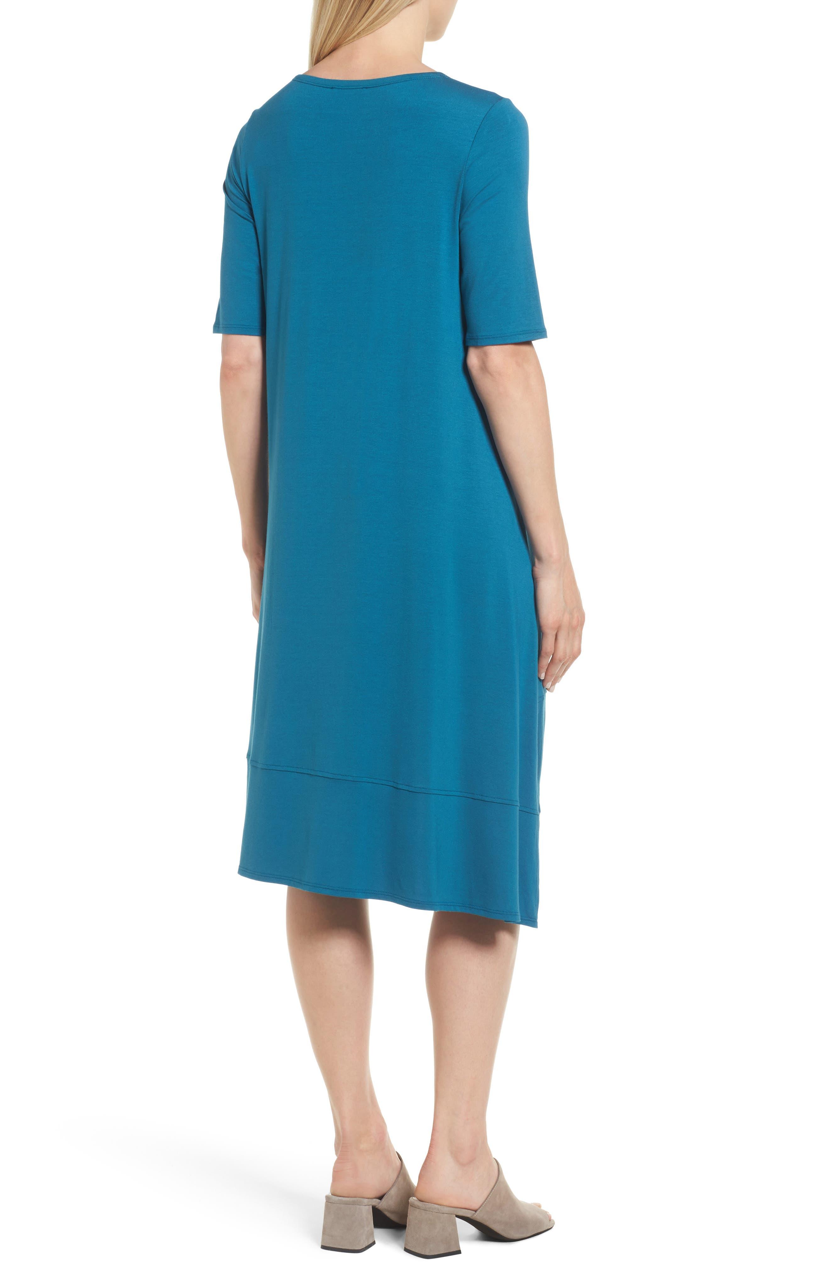 Jersey Asymmetrical A-Line Dress,                             Alternate thumbnail 8, color,