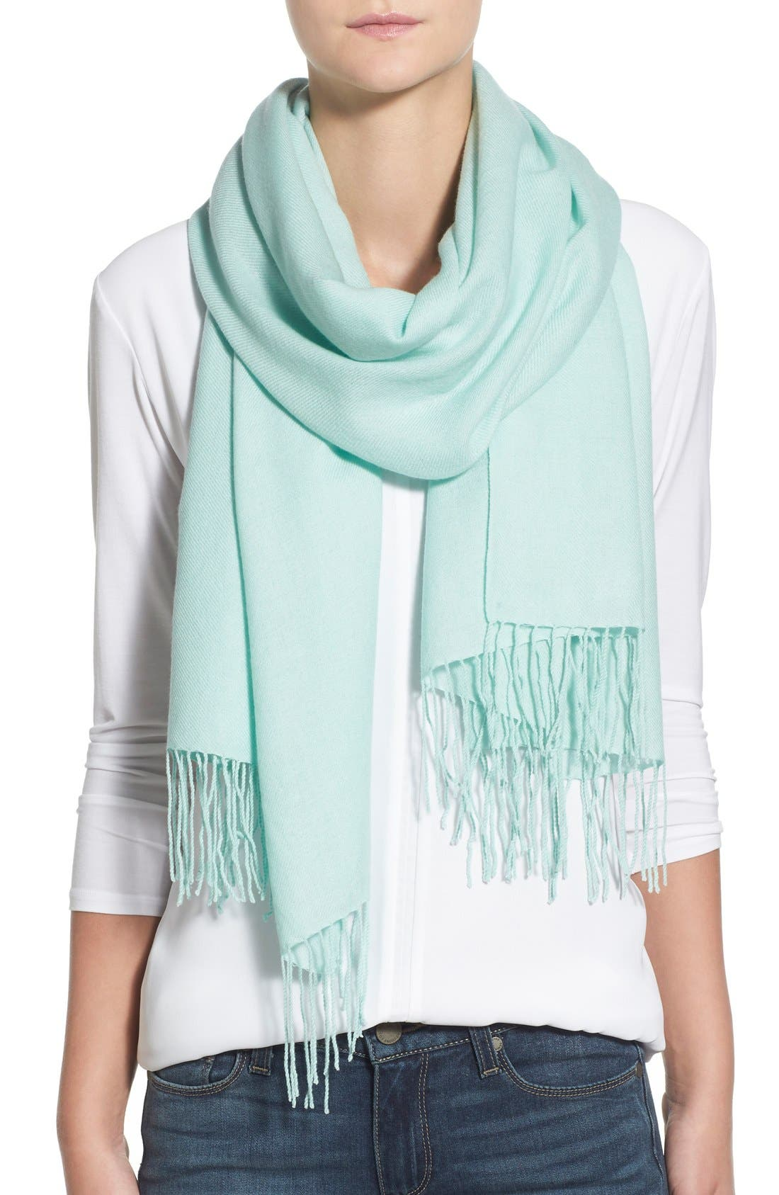 Tissue Weight Wool & Cashmere Scarf,                             Main thumbnail 38, color,