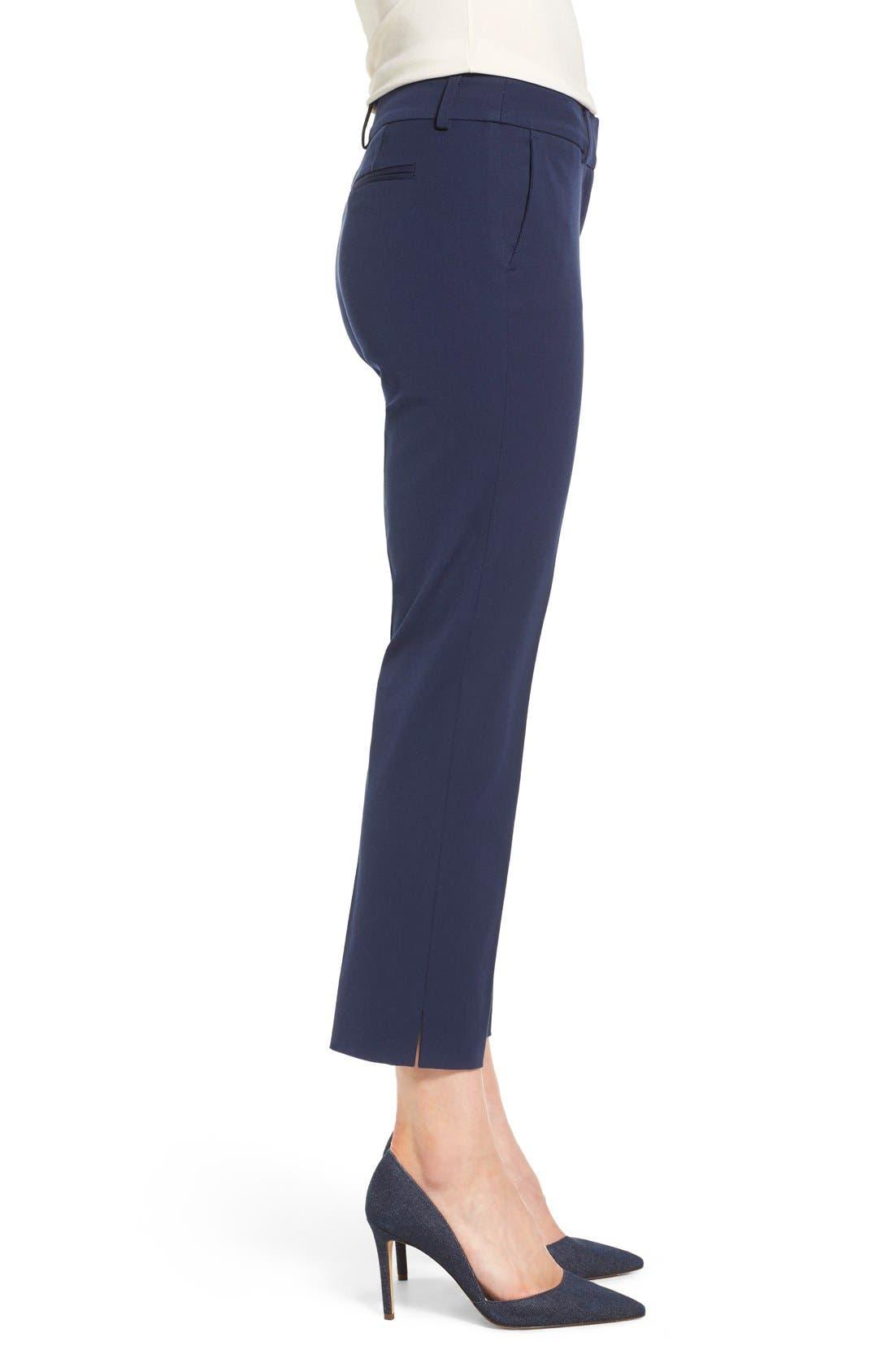 Crop Stretch Cotton Pants,                             Alternate thumbnail 57, color,