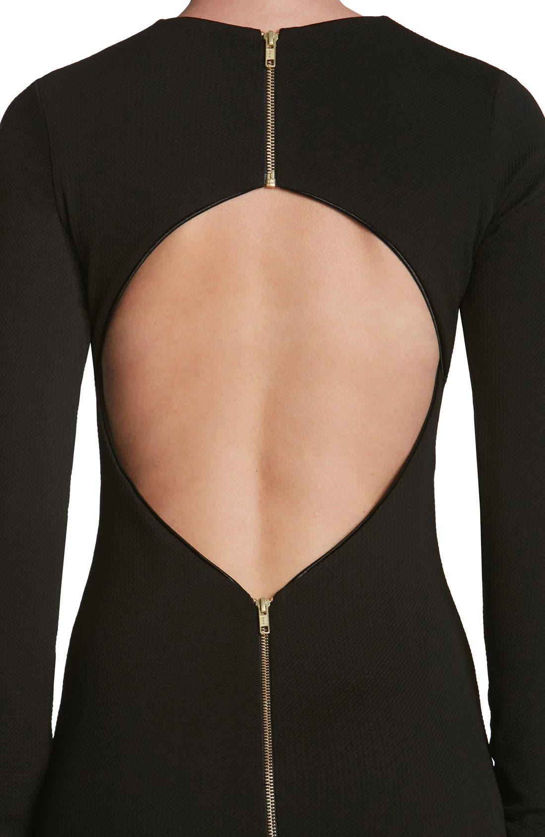 Tori Body-Con Dress,                             Alternate thumbnail 4, color,                             001