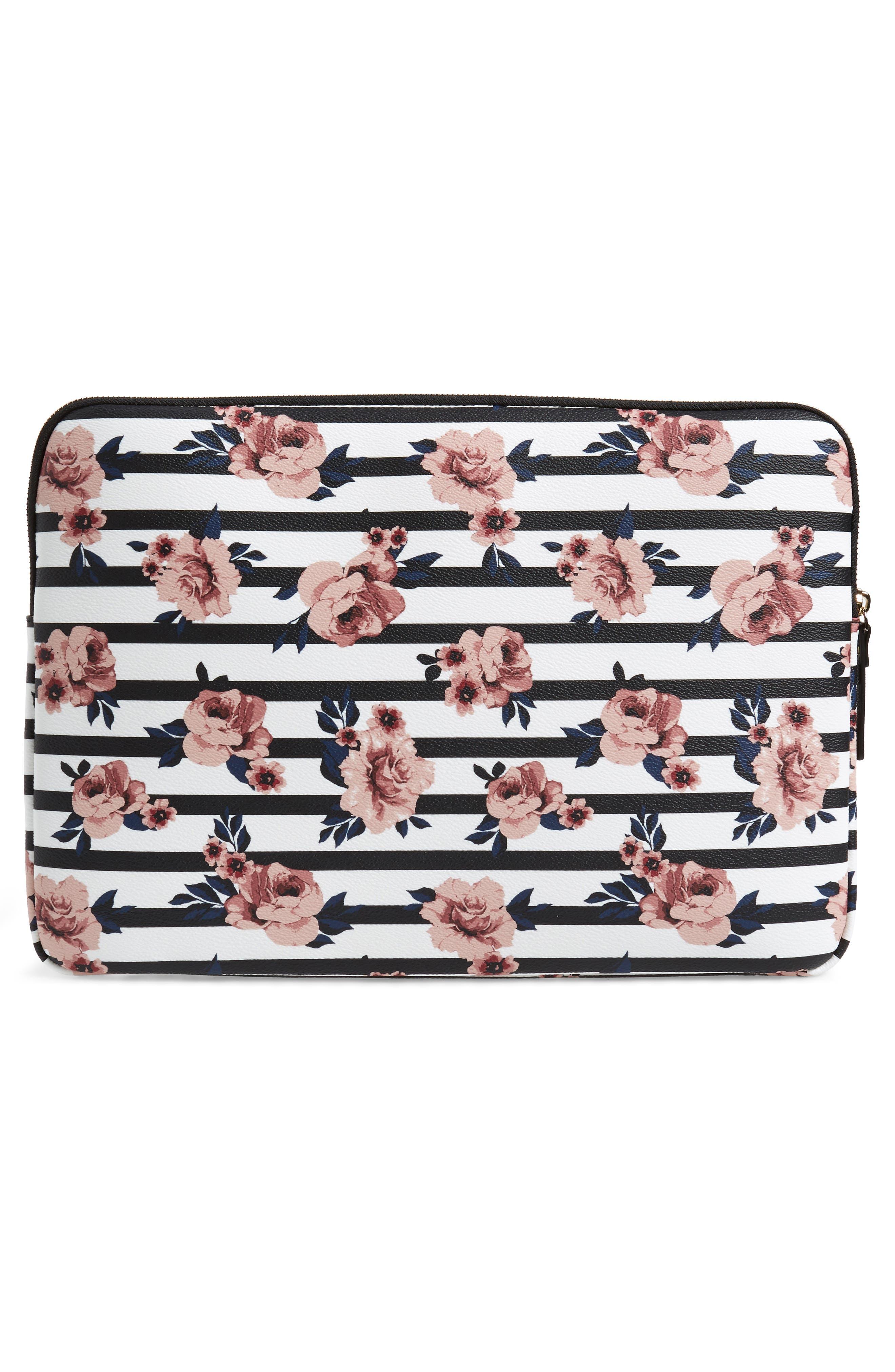 rose stripe universal laptop sleeve,                             Alternate thumbnail 2, color,                             650