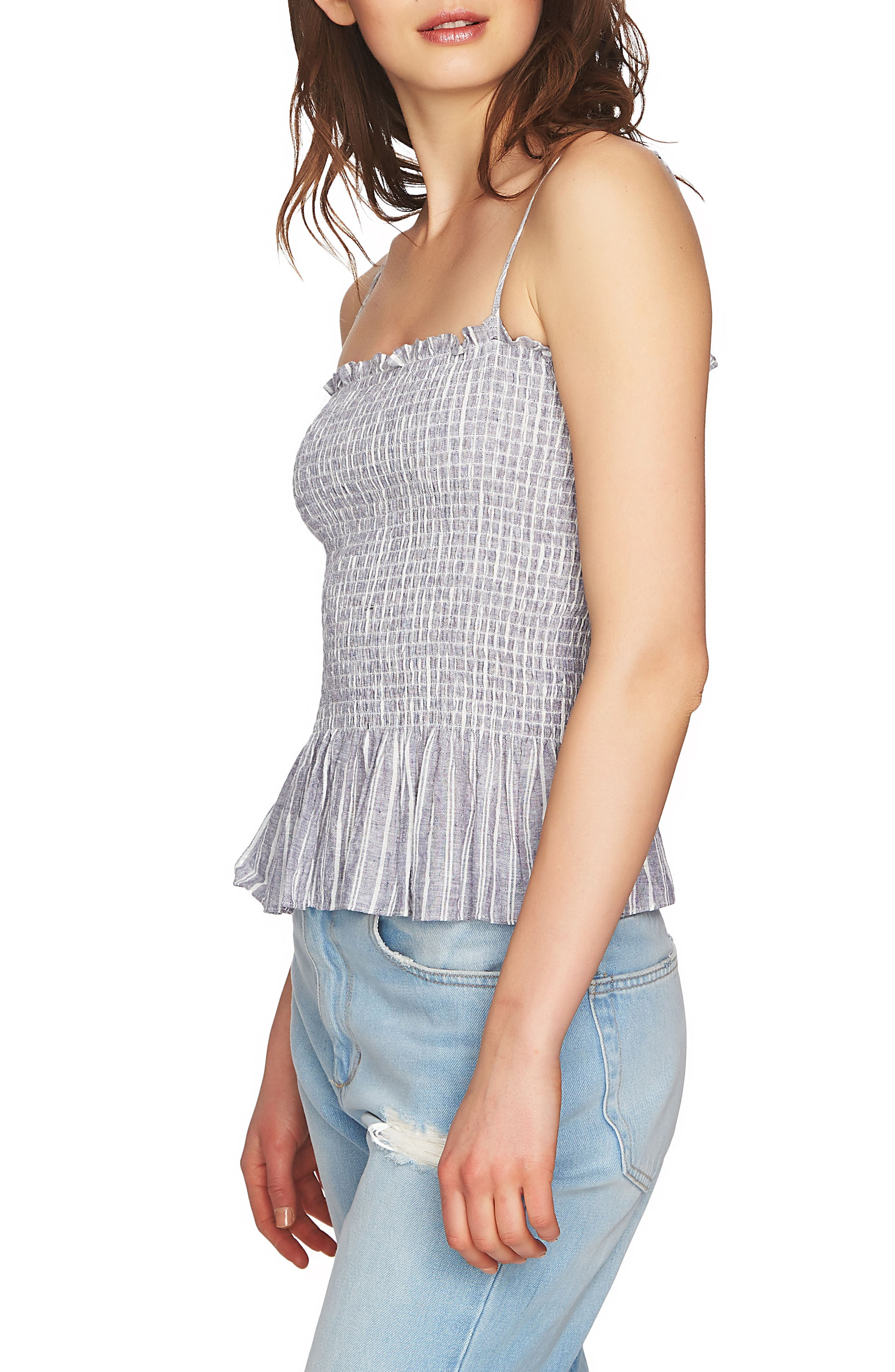 Smocked Spaghetti Strap Top,                             Alternate thumbnail 3, color,                             442
