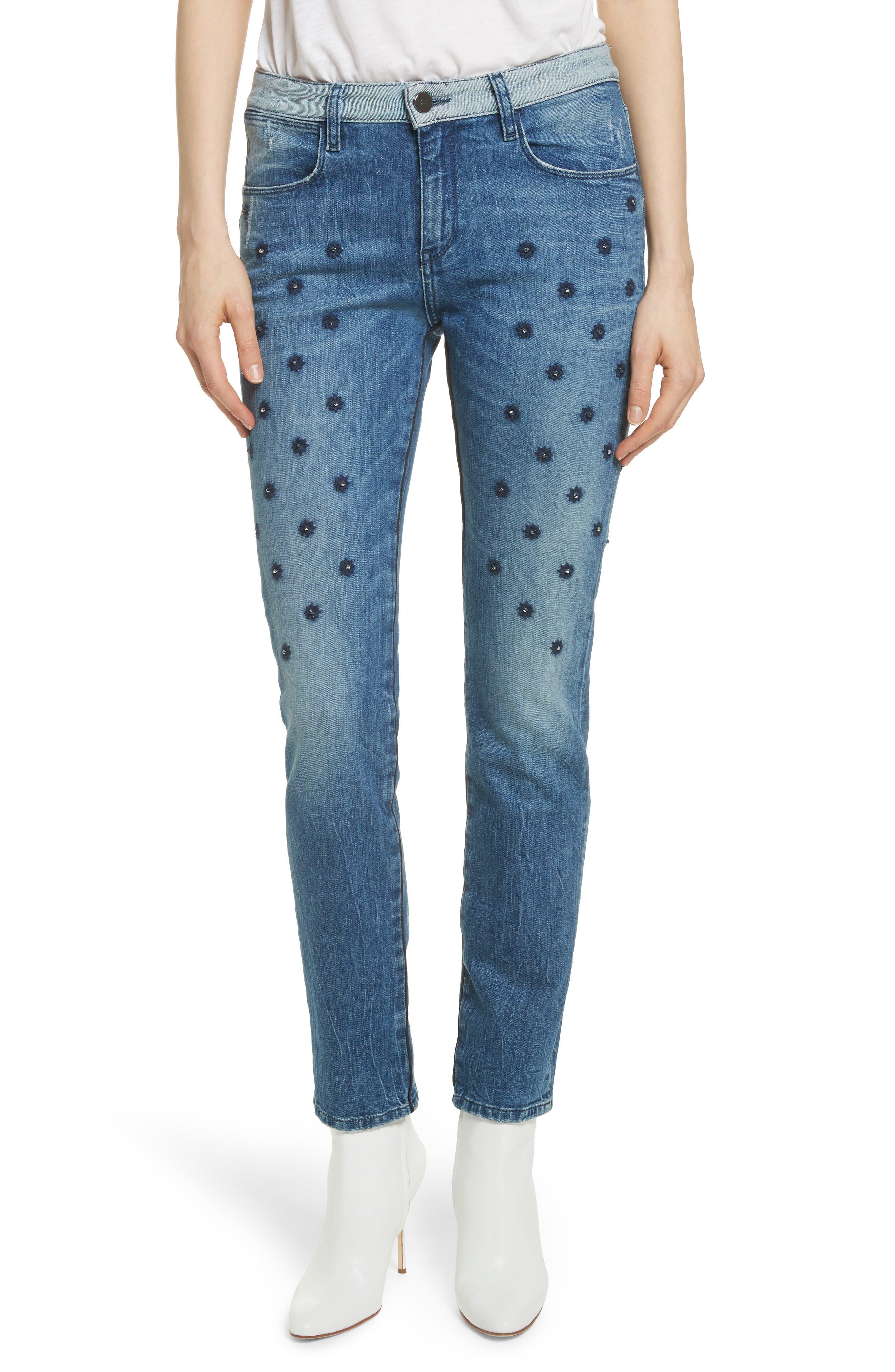 Embellished Boyfriend Jeans,                         Main,                         color, 420