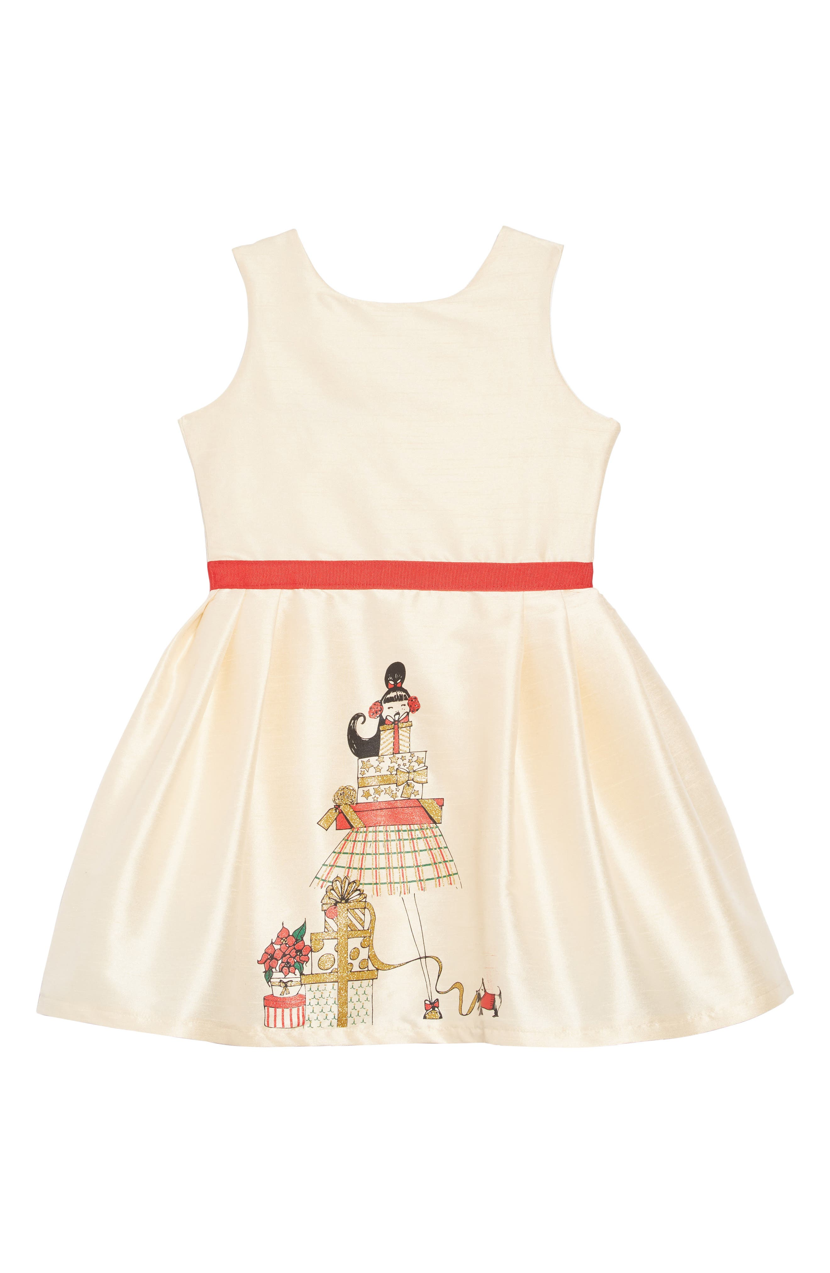 Girls Fiveloaves Twofish Holiday Presents Party Dress