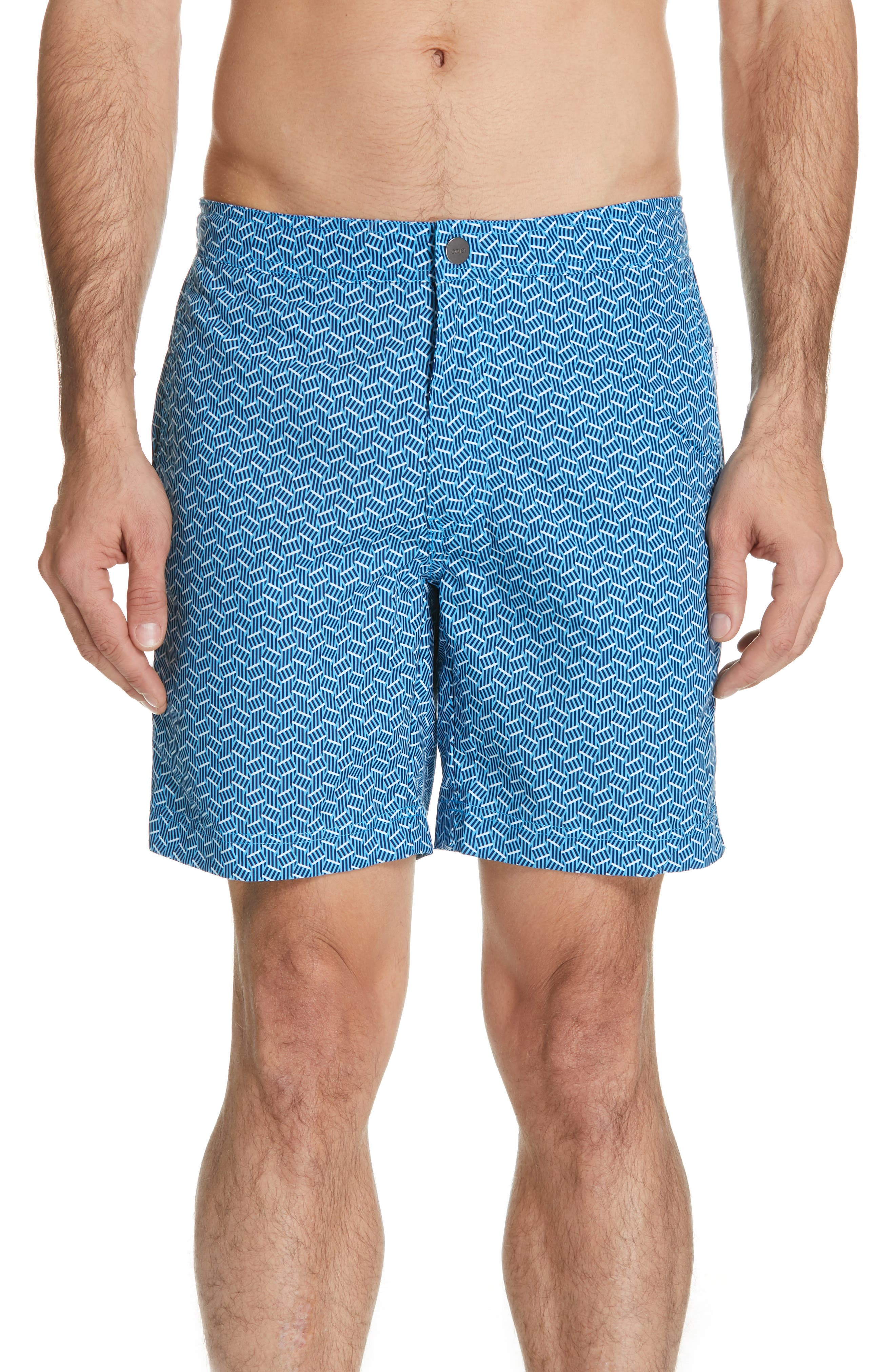 Calder Swim Trunks, Main, color, POOL BLUE