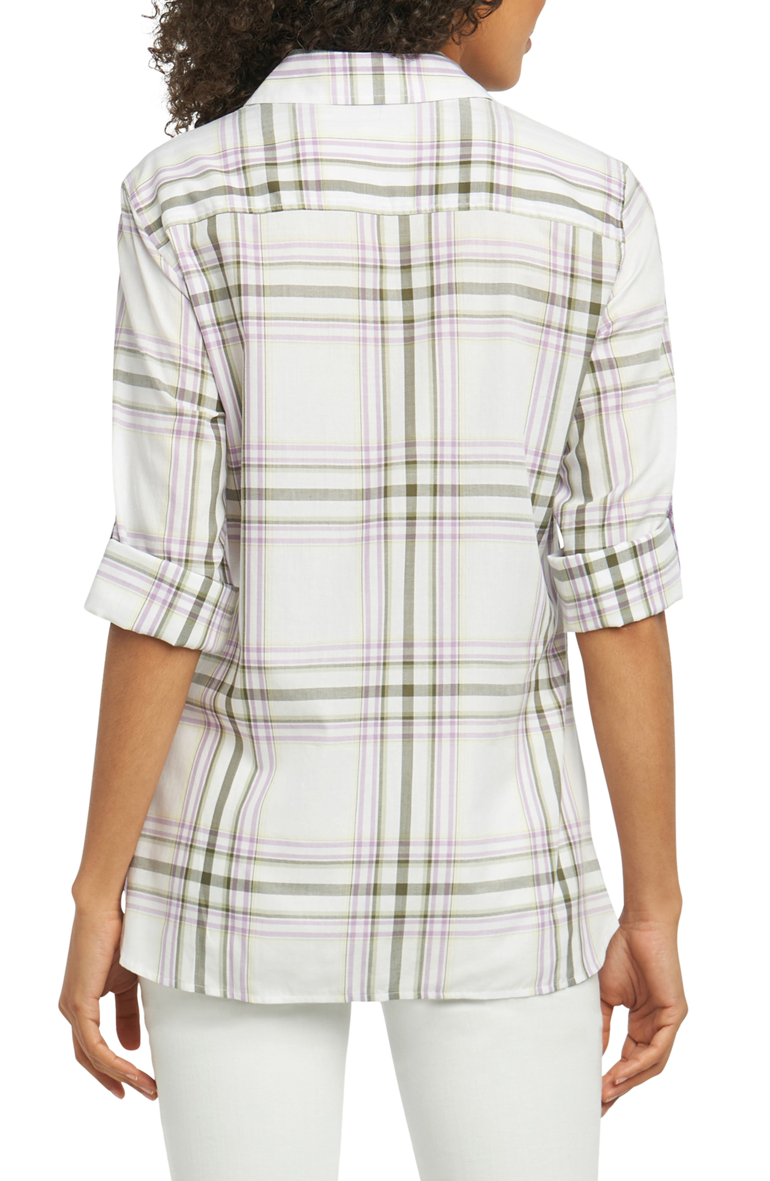 Tamara Herringbone Plaid Shirt,                             Alternate thumbnail 2, color,                             500