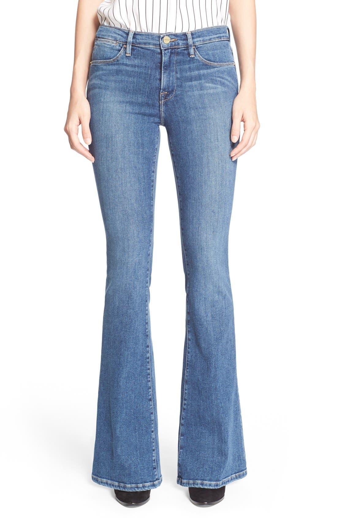 'Le High Flare' Jeans,                             Main thumbnail 3, color,