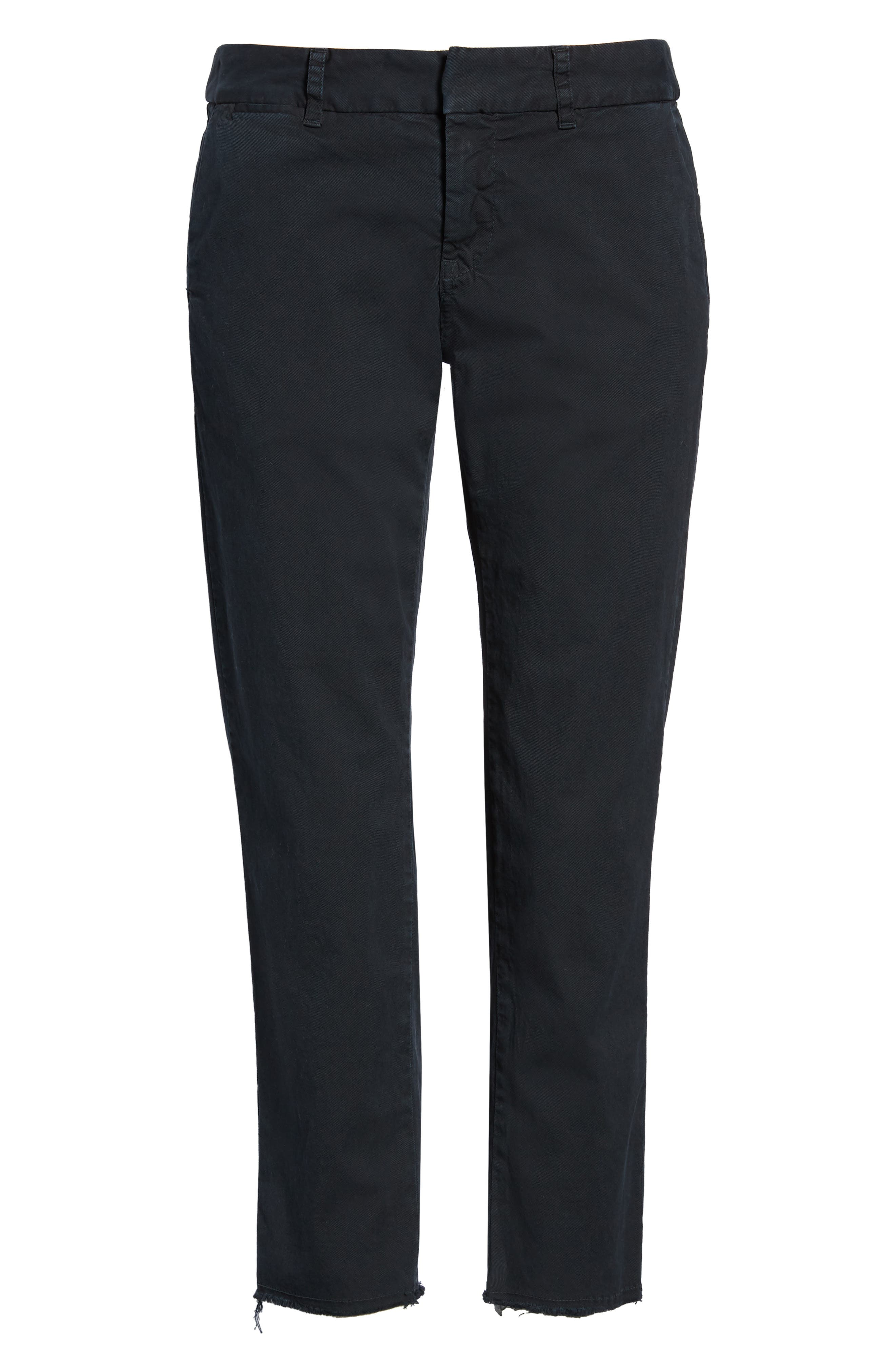 East Hampton Stretch Cotton Twill Crop Pants,                             Alternate thumbnail 7, color,                             DARK NAVY