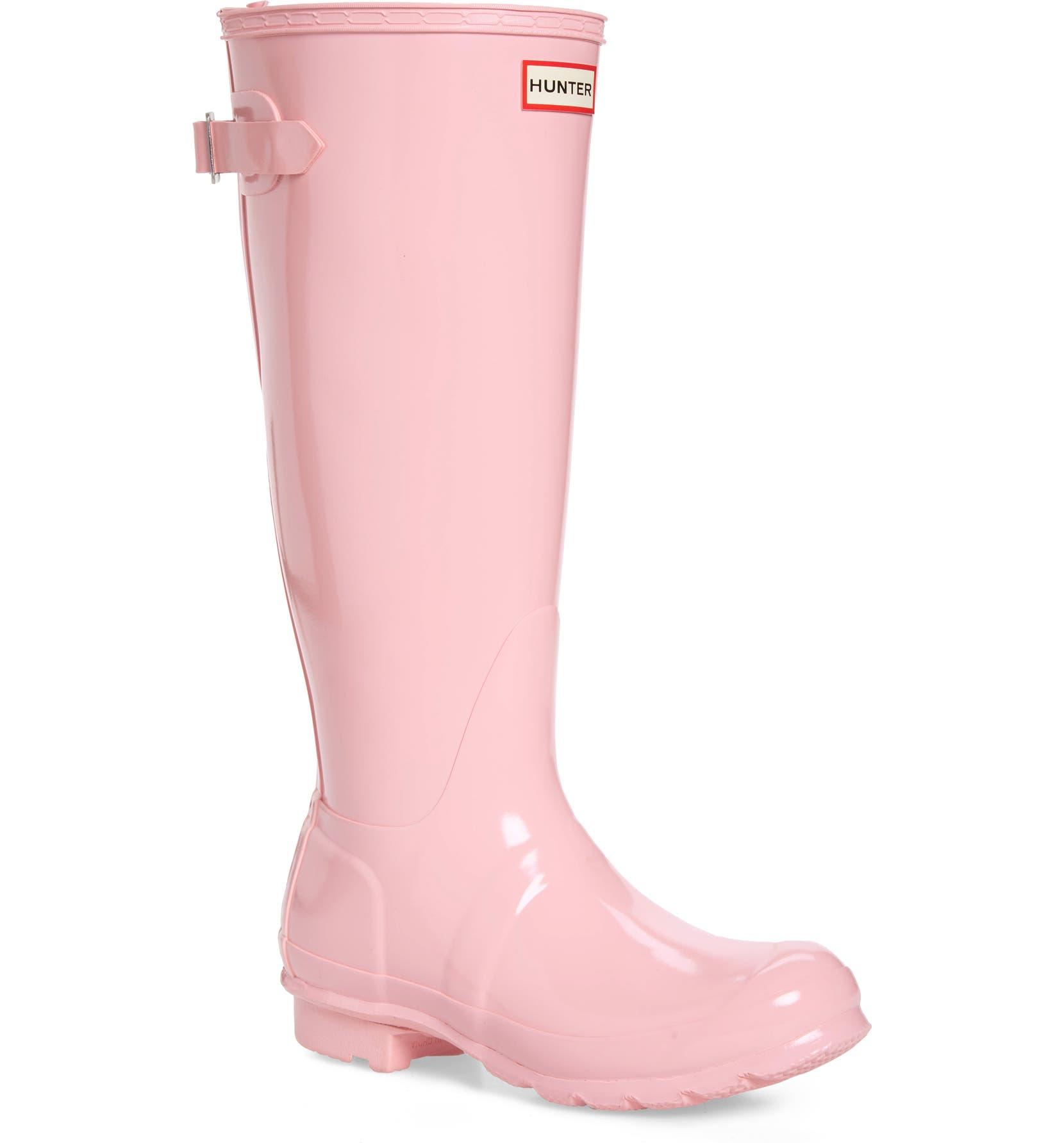 Hunter Adjustable Back Gloss Waterproof Rain Boot (Women)  7a4ba00a21