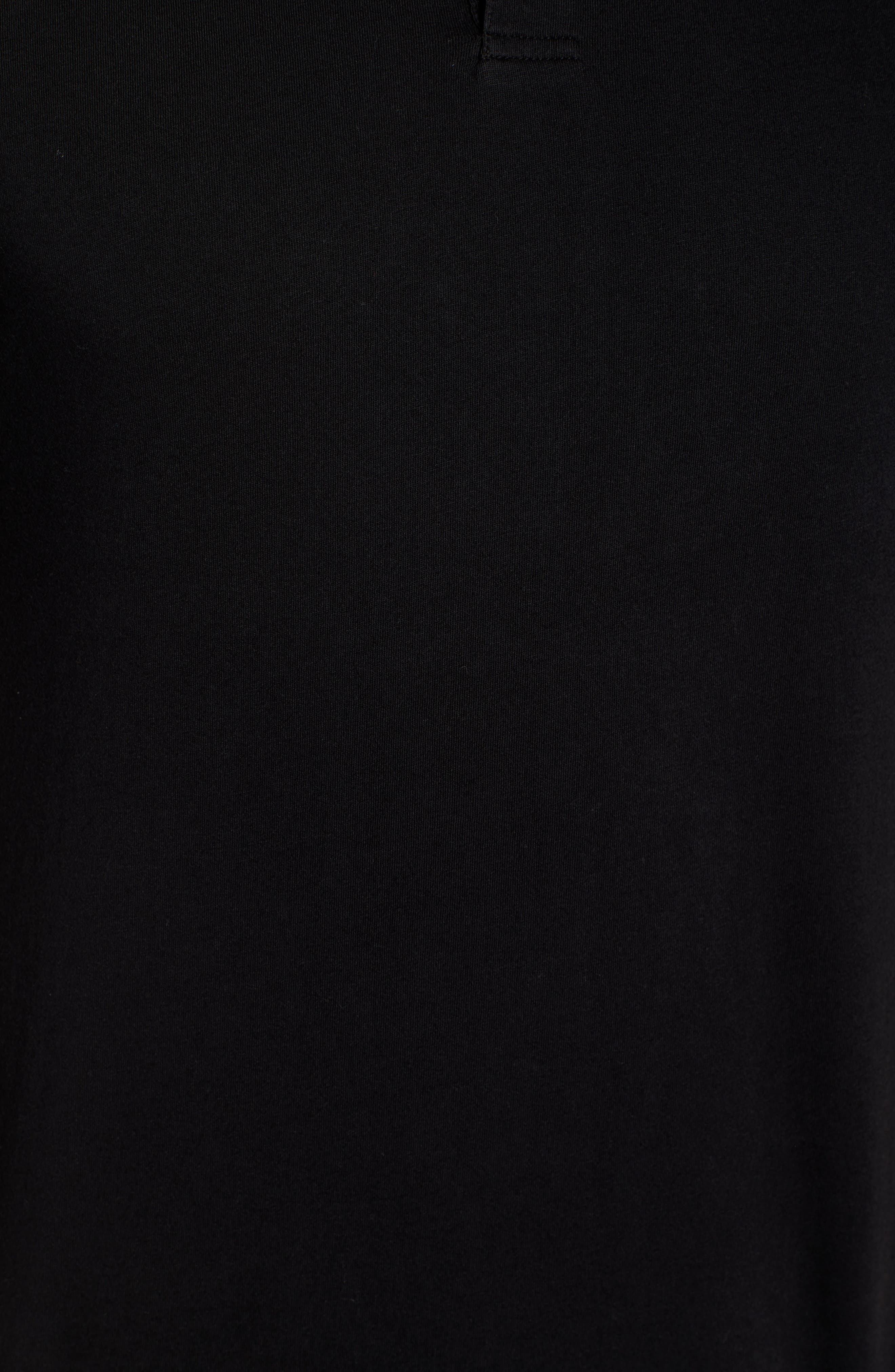 Regular Fit Jersey Polo,                             Alternate thumbnail 5, color,                             BLACK