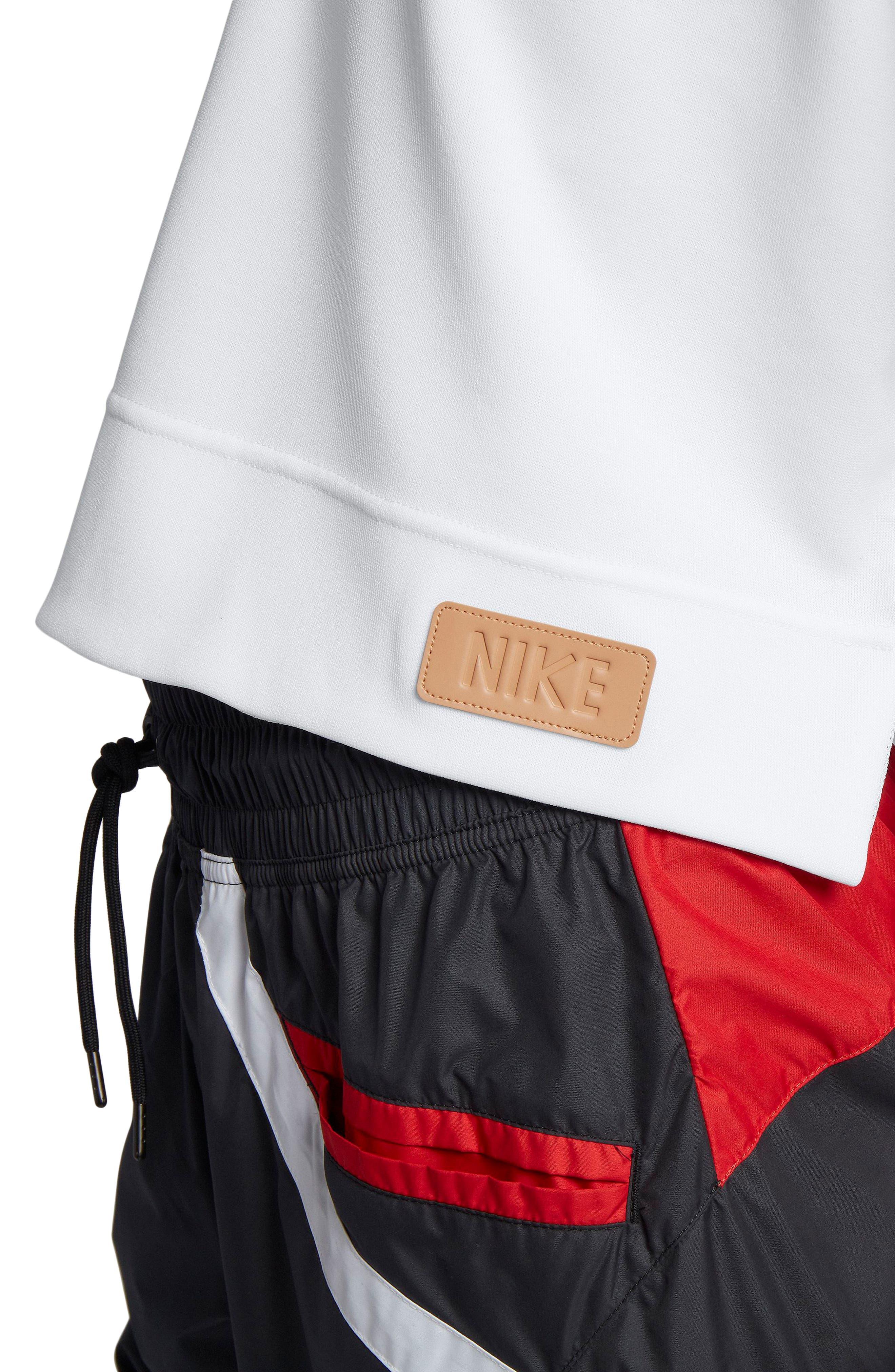 NIKE,                             Sportswear Beautiful x Powerful Crop Hoodie,                             Alternate thumbnail 4, color,                             100
